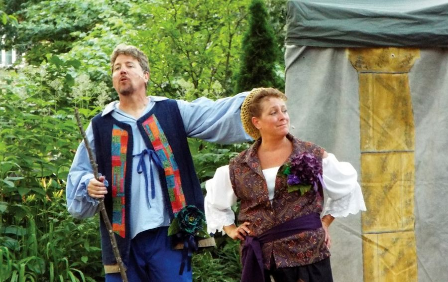 "Midsummer Theatre Troupe member Dan McQuaid and Executive Director Kristen Duerdoth are featured in ""As You Like it"" July 15 at RiverPark in Geneva."