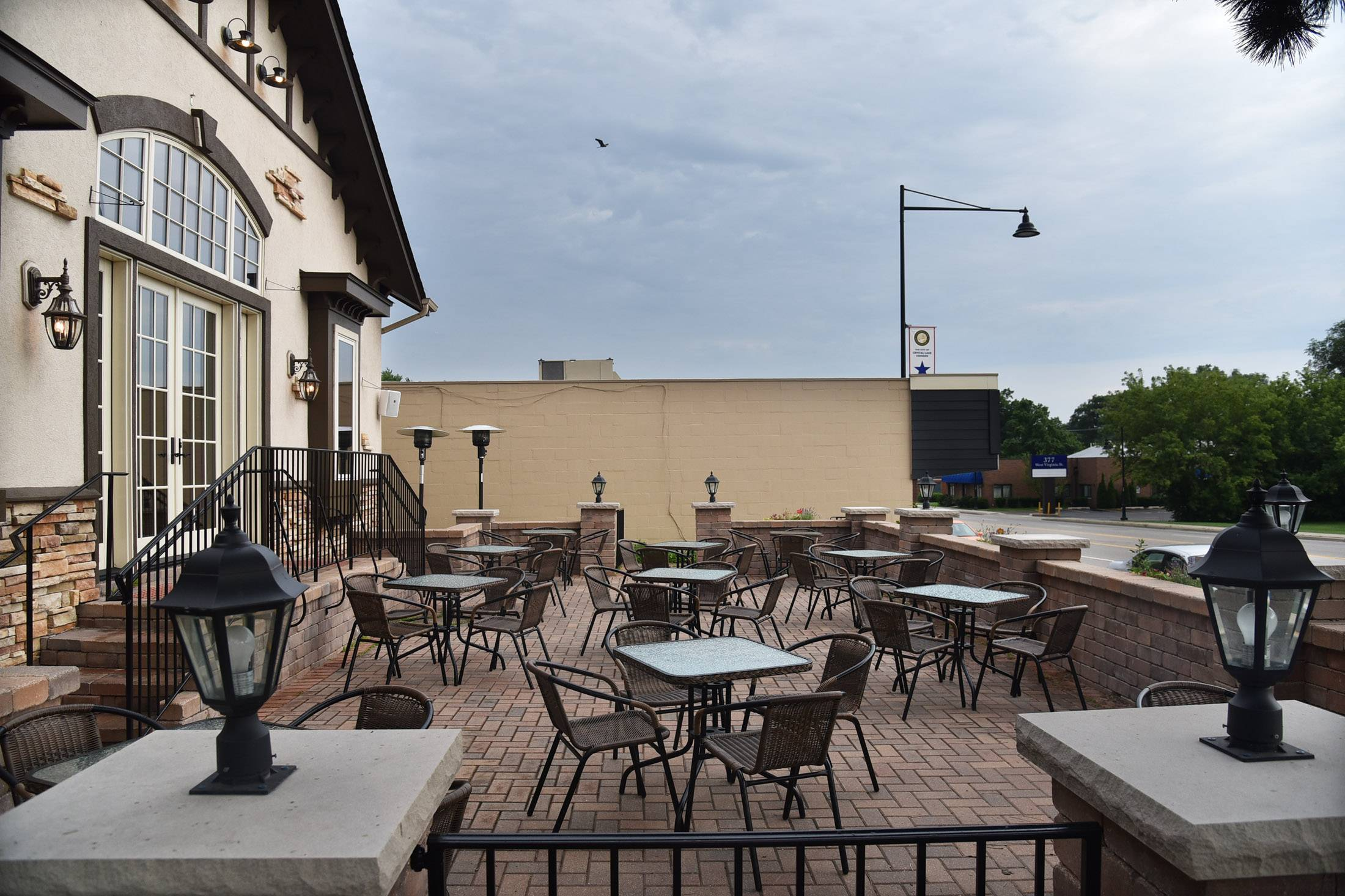 Warm weather beckons patrons to sit outside at Crystal Lake's M Supper Club.