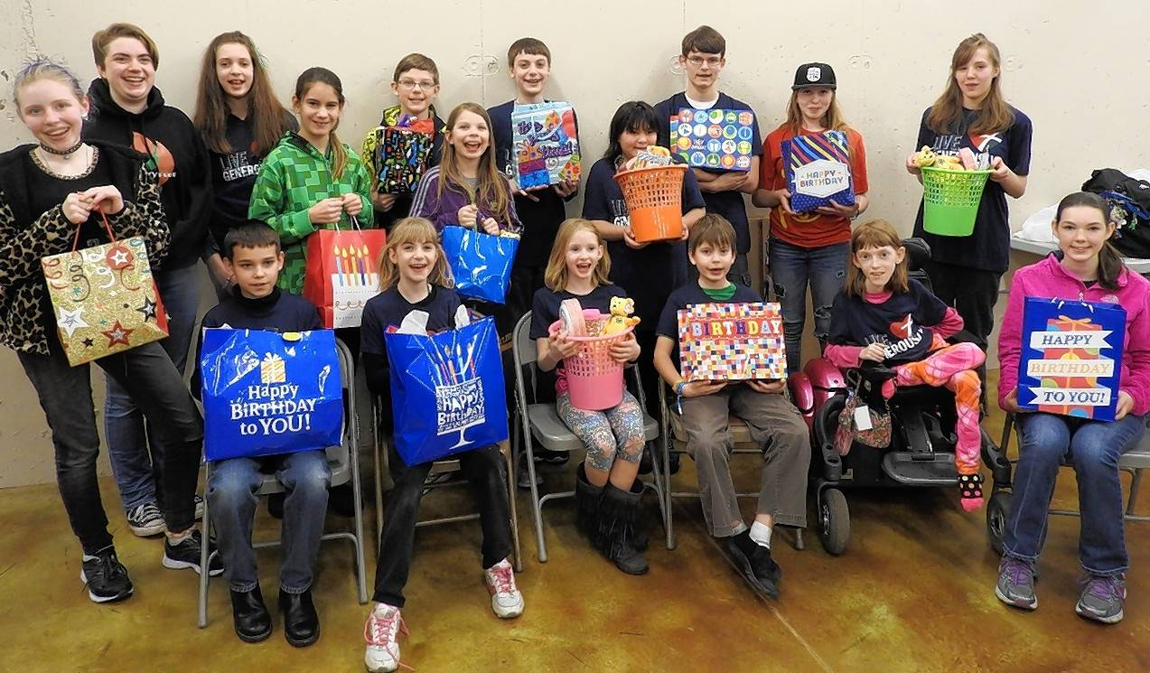 Trinity Trailblazers 4-H Club of DuPage County is one of several area 4-H clubs participating in the tri-county Birthday Bag service project.