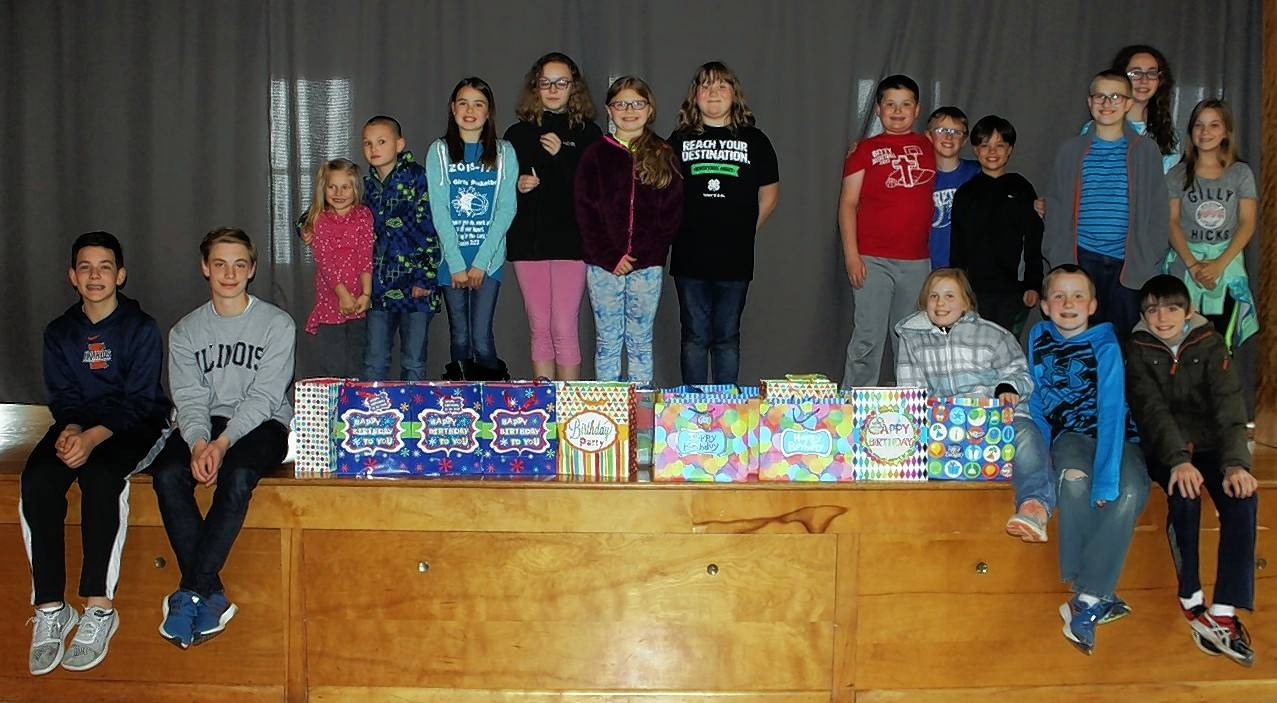Barn and Beyond 4-H Club of Kendall County completes 22 birthday kits and deliver them to the Salvation Army Food Pantry in Aurora.