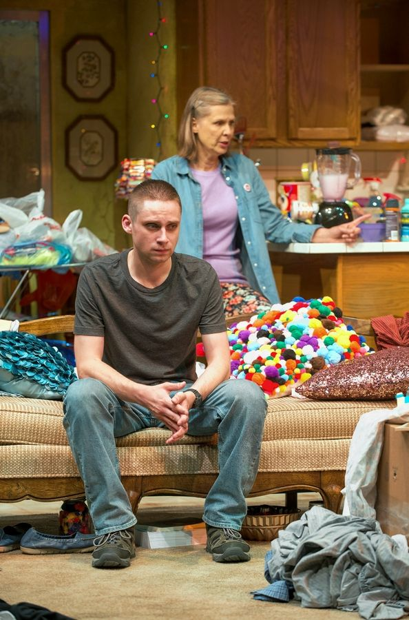"Isaac (Ty Olwin) tries to comprehend the changes at home spearheaded by his mother, Paige (Amy Morton), in ""Hir"" at Chicago's Steppenwolf Theatre."