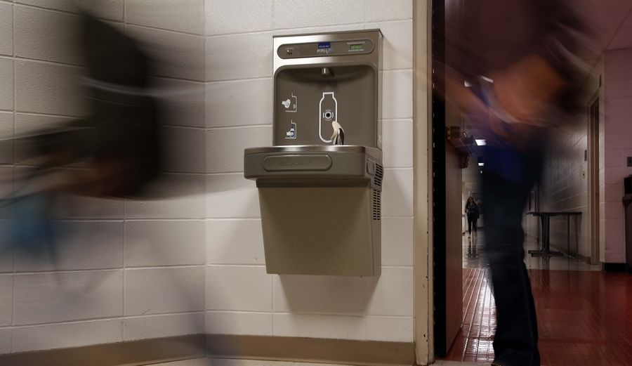 More than 130 water bottle filtration stations have been installed in buildings throughout Elgin Area School District U-46, and more are being added this summer and into next year.