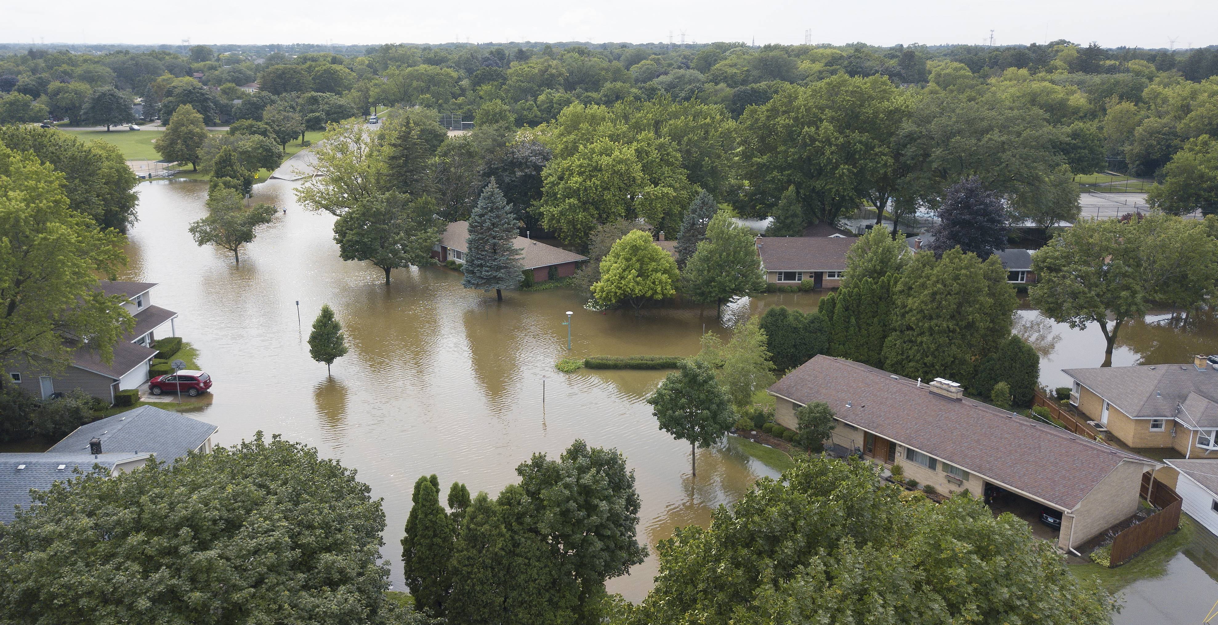 Watch drone footage of flooding on our Facebook page