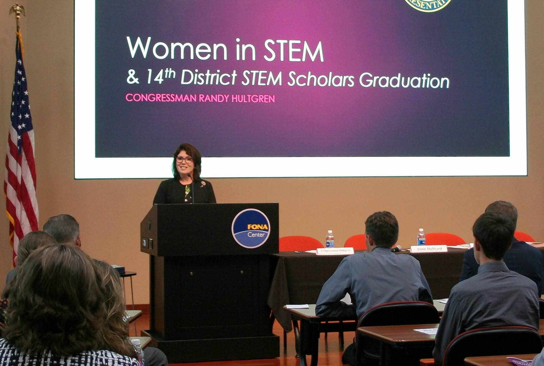 Lt. Gov. Sanguinetti delivers keynote address for the first STEM Scholars graduation event.