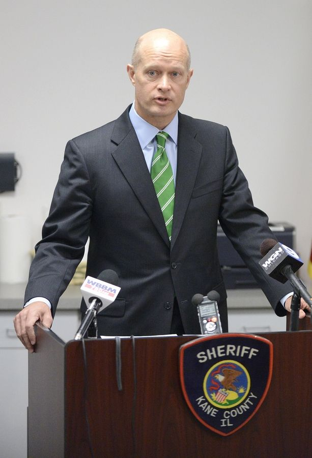 Kane County State's Attorney Joe McMahon, pictured here in 2014, says 1,247 new felony cases were filed from Jan. 1 to June 30, up from 1,078 during the same period last year.