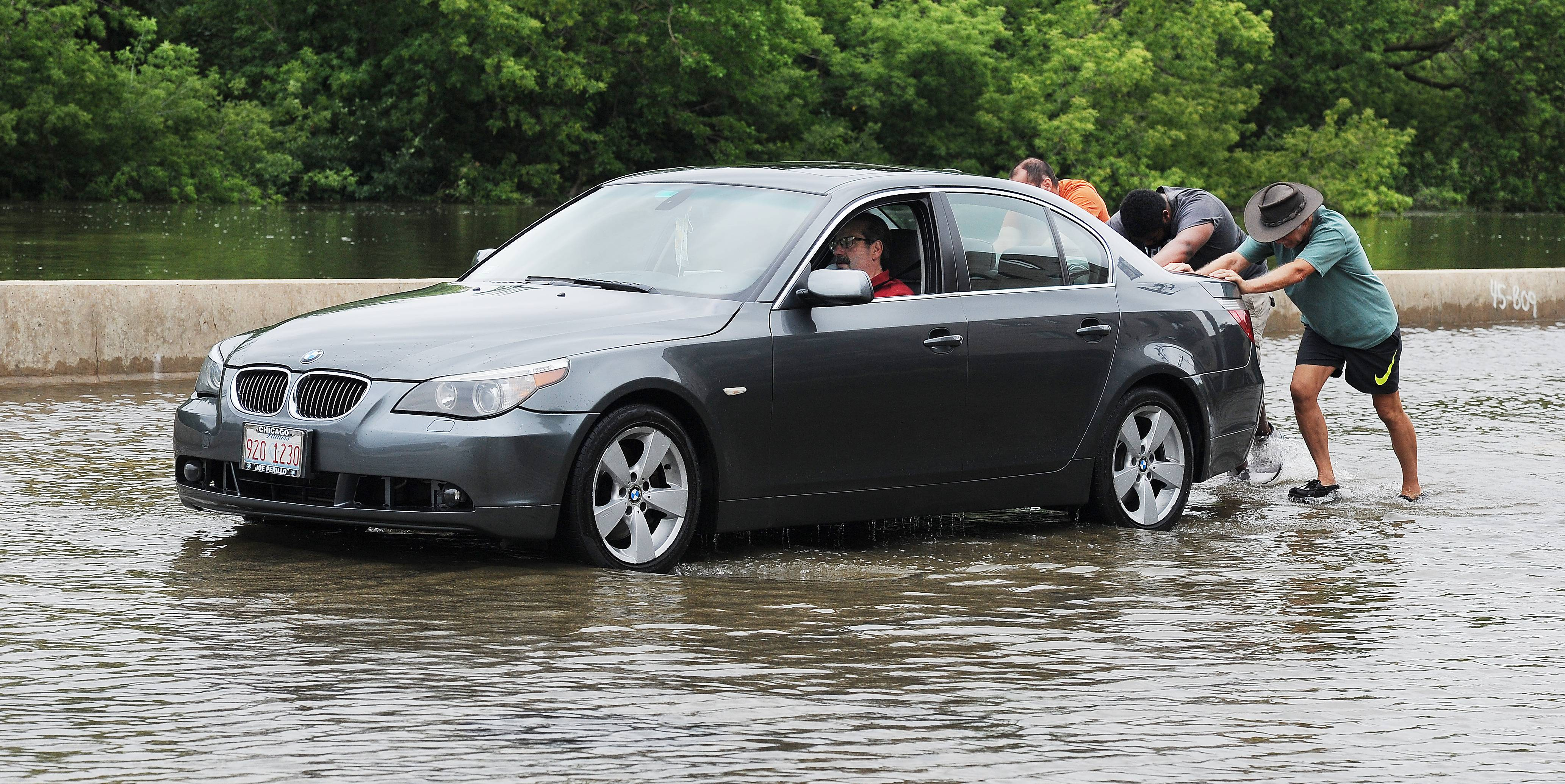 Images: Friday scenes of flooding in Lake, Cook and Kane counties