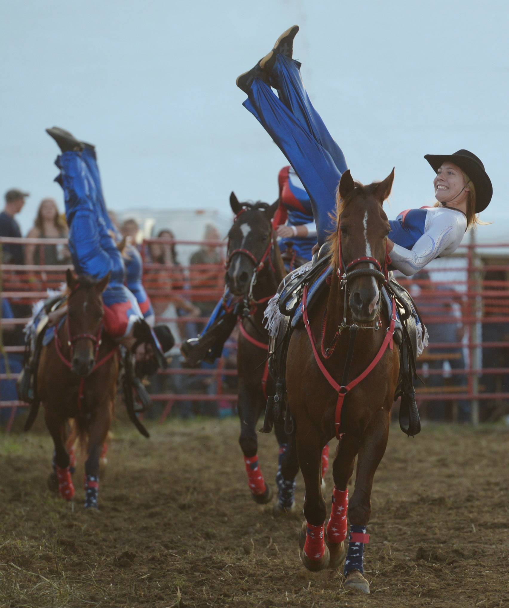 Larissa Pietrzak of the MidWest Renegades Drill Team performs during the 54th annual IPRA Championship rodeo Saturday in Wauconda.