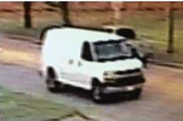 Police say the man who ran at a woman in Elgin was a passenger in this cargo van.