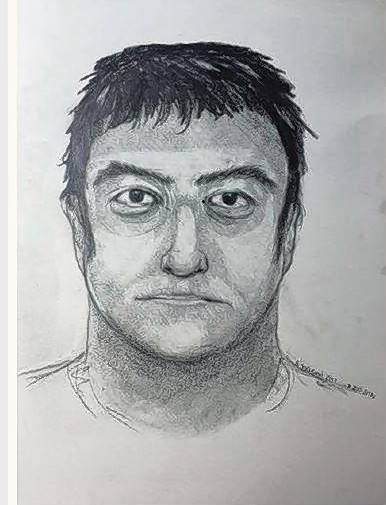 Elgin police released this composite sketch of the man a woman says ran at her in Elgin.
