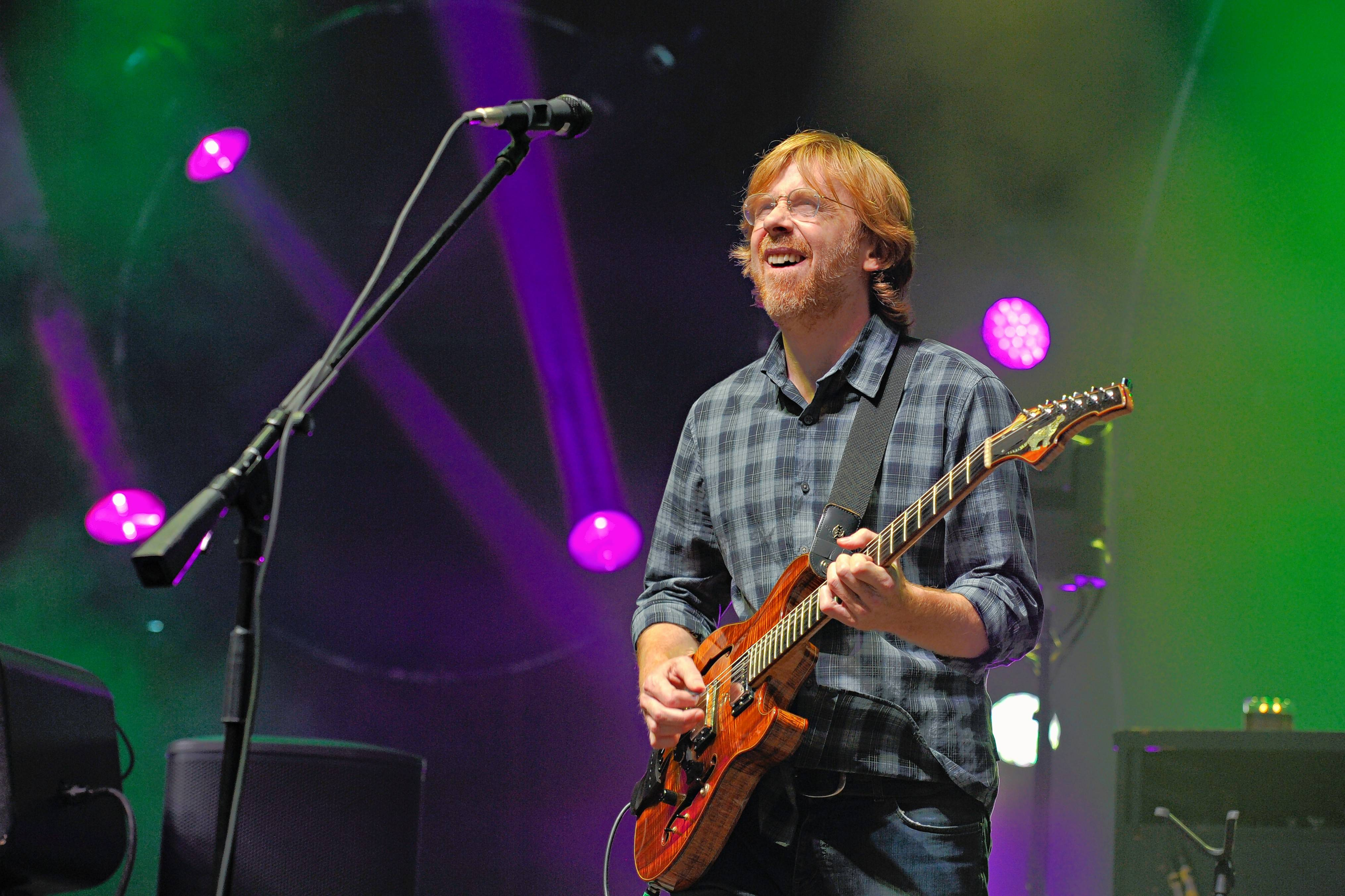 Trey Anastasio and Phish jam for three nights Friday through Sunday, July 14-16, at the Huntington Bank Pavilion on Northerly Island.