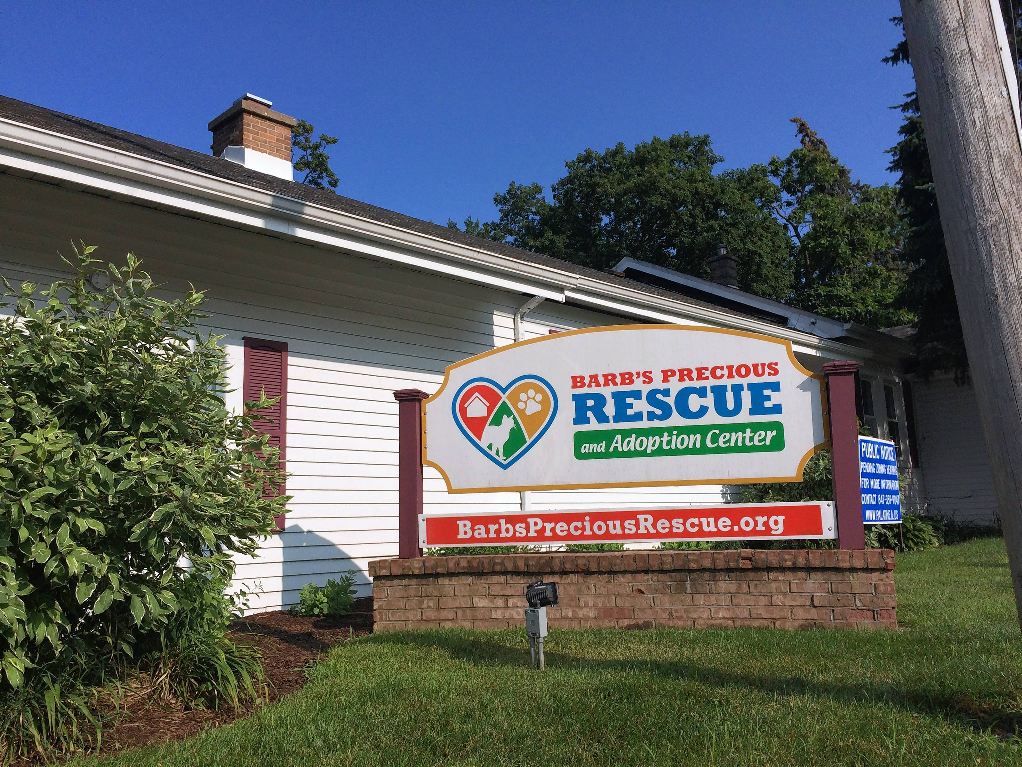 Palatine village council members have approved a plan for construction of an addition at Barb's Precious Rescue and Adoption Center, 313 N. Quentin Road.