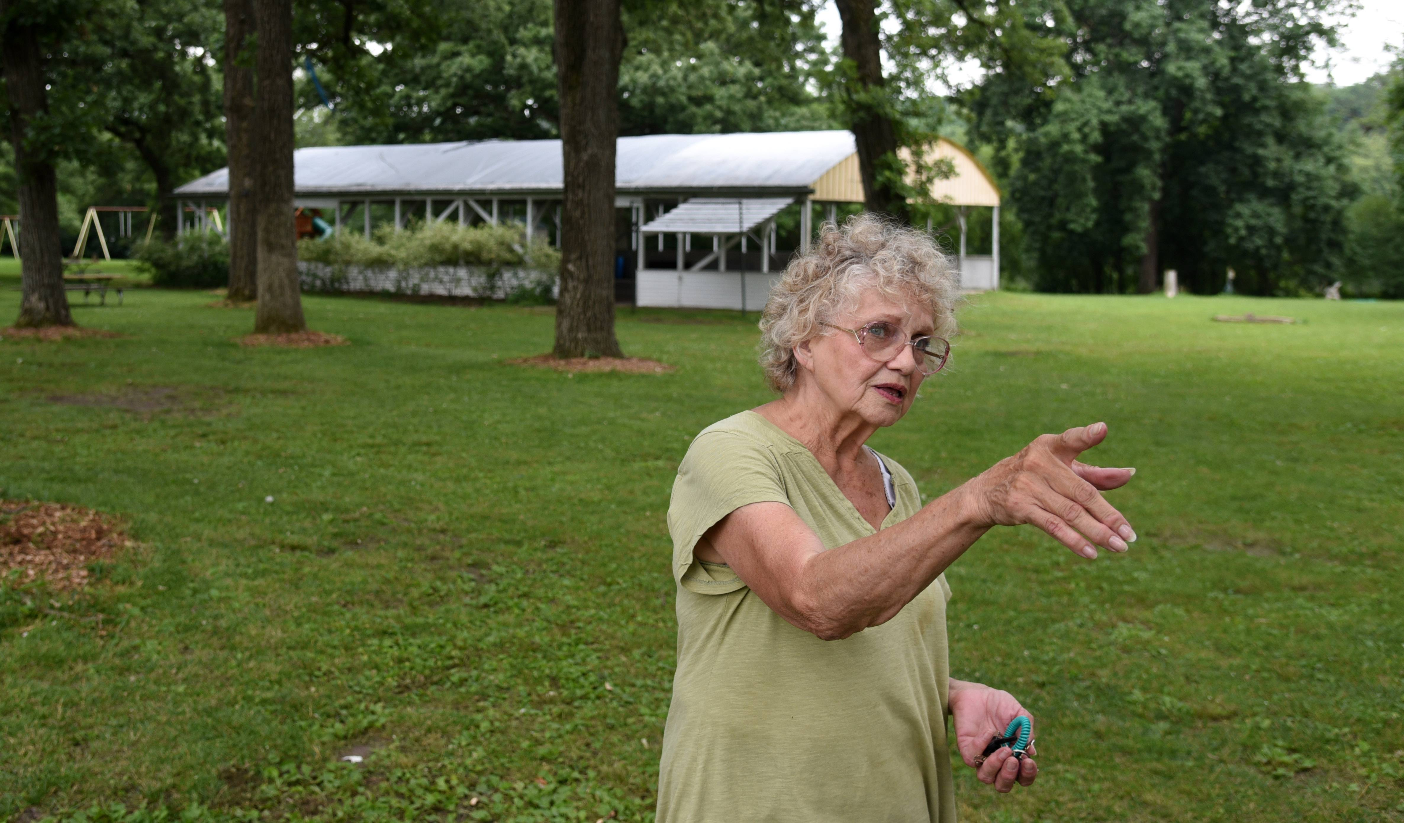 Catherine Dinicolo and husband, Frank, have been caretakers of Vasa Park in South Elgin for 17 years. Their home is one of several structures at the 25-acre park in need of repairs.