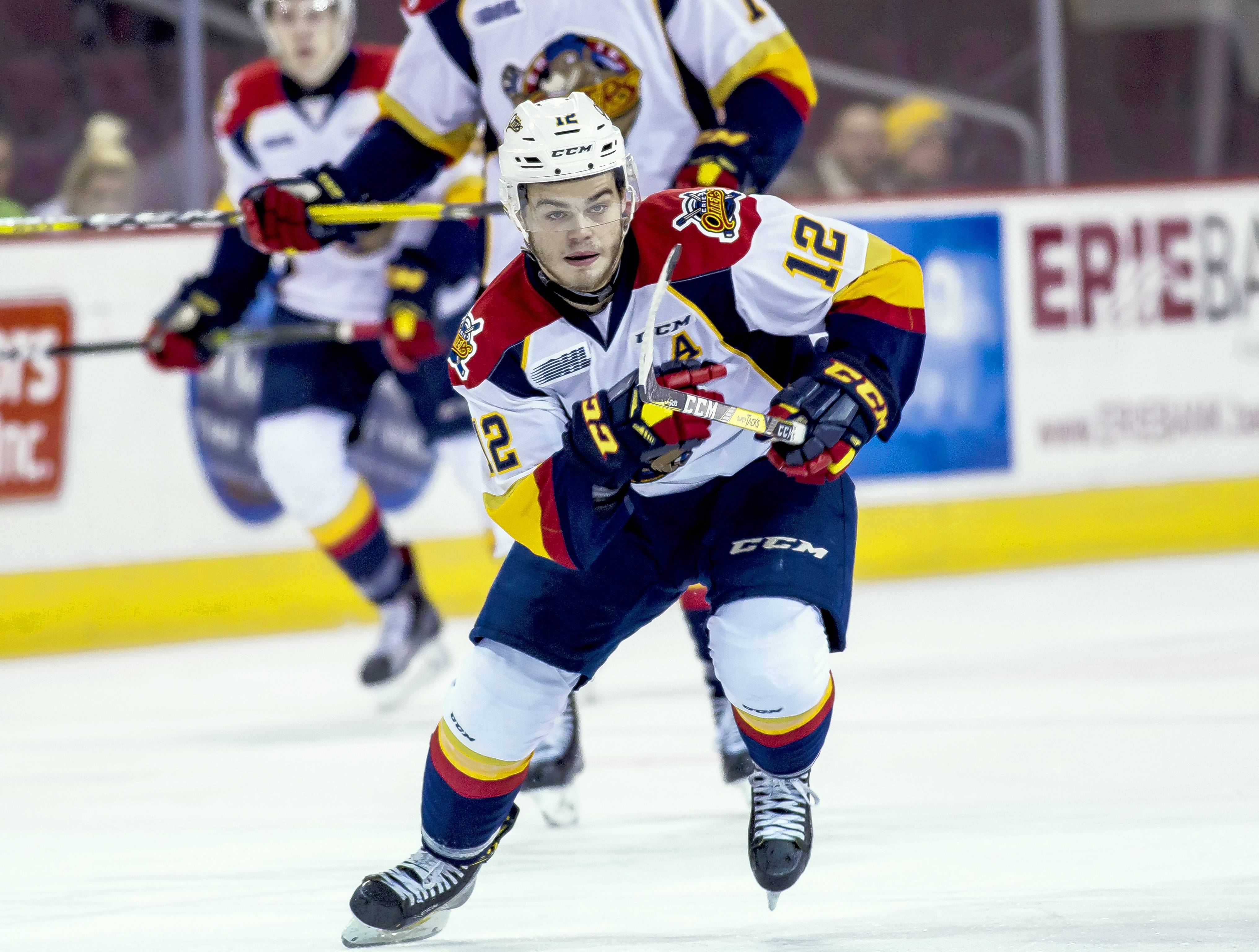 Alex DeBrincat of the Erie Otters could make the Chicago Blackhawks' roster this season.