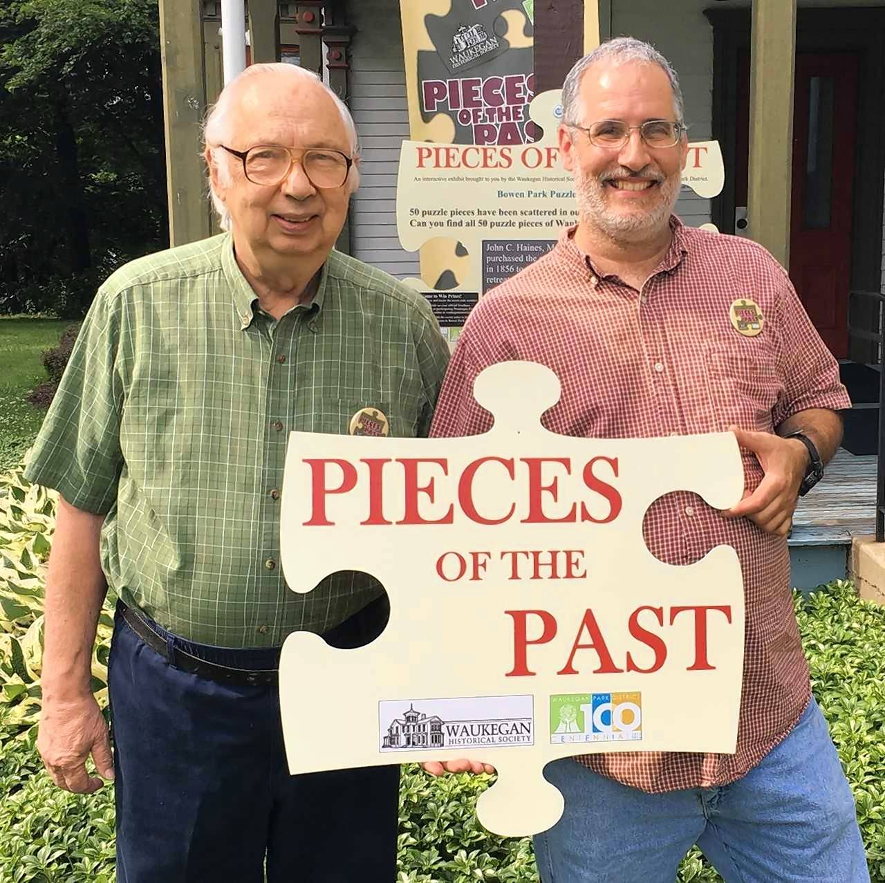 "Norm Wideburg and Rob Proce were recently the first to complete the Waukegan Historical Society's ""Pieces of the Past"" game."