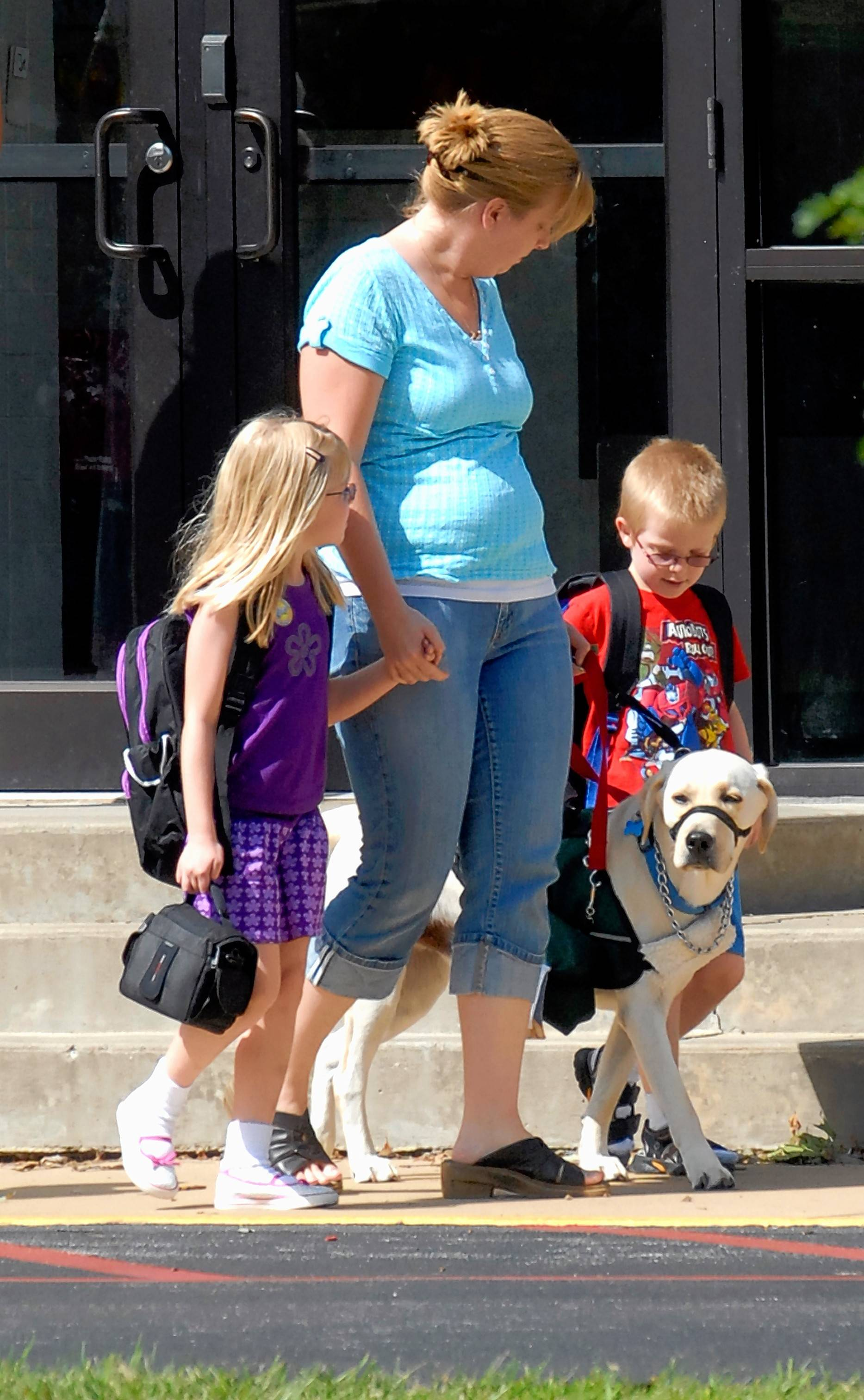 In 2009, this family in central Illinois successfully sued a school district to get permission for their 6-year-old boy to bring his autism service dog to school. Once reserved for helping sight-impaired people navigate, animals now can provide a wide range of services, including sensing blood-sugar levels, calming people with post-traumatic stress disorder, reminding people with mental illnesses to take medication and alerting owners of imminent seizures.