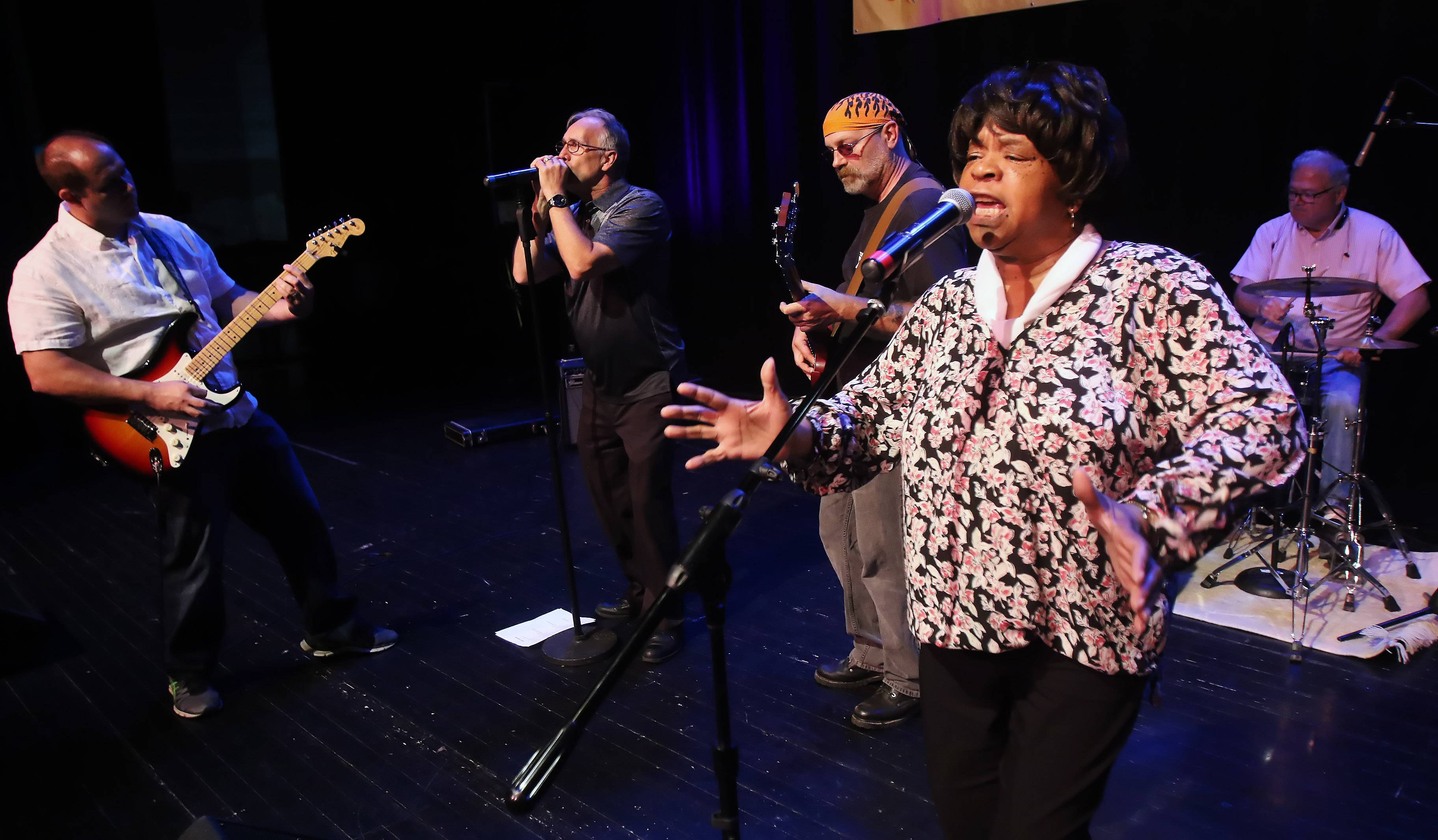 The Annie Young Gospel Blues Band performed as a top 15 finalist of Suburban Chicago's Got Talent at the Prairie Center for the Arts in Schaumburg.