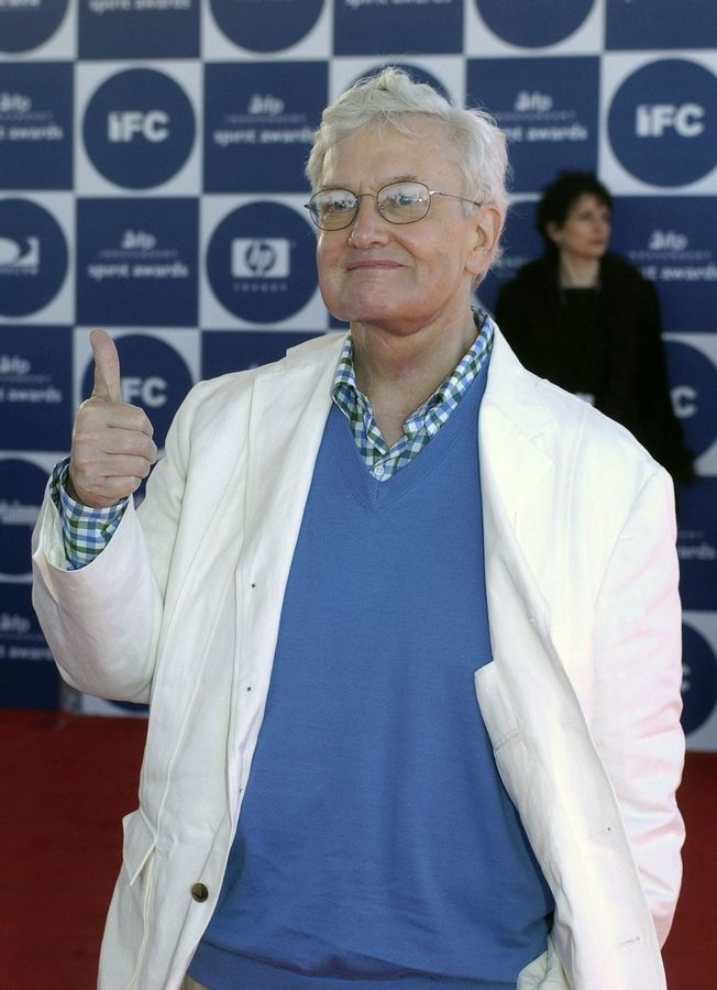 Film critic Roger Ebert, shown in 2004, will be inducted into the Chicago Literary Hall of Fame next month.