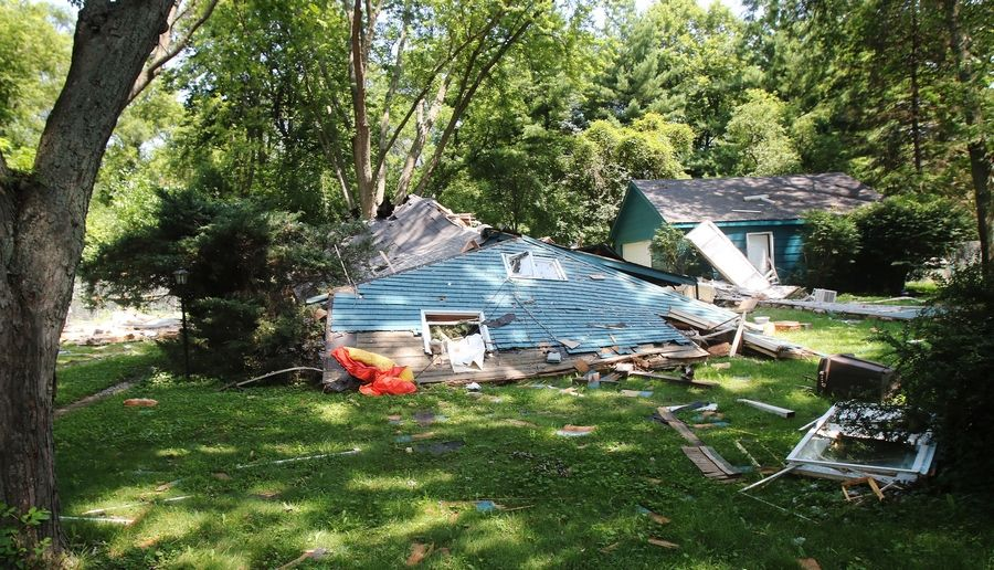A house on Sunnyview Road in Libertyville exploded last week.
