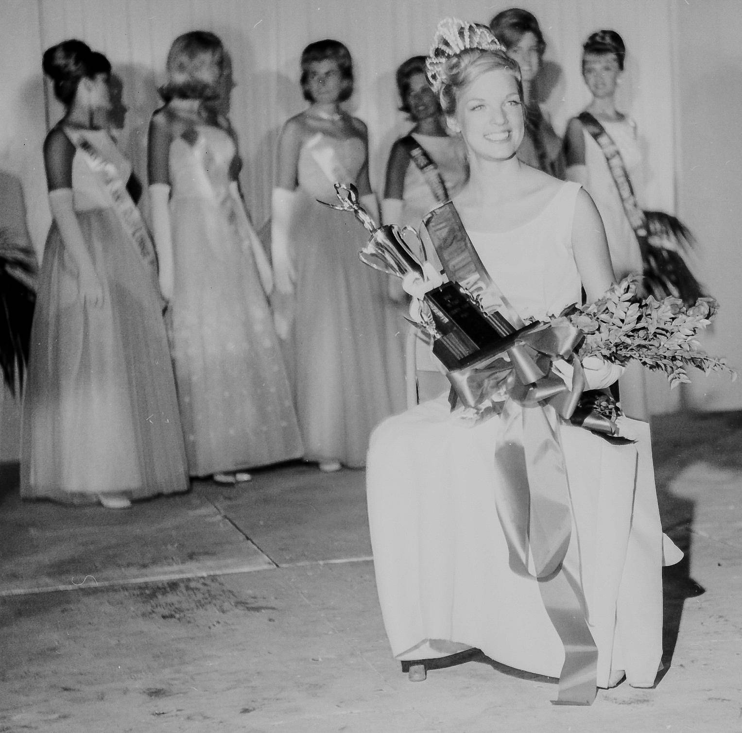 Ellyn Peska, 16 of Glen Ellyn is crowned Miss DuPage Country Fair queen 1965.