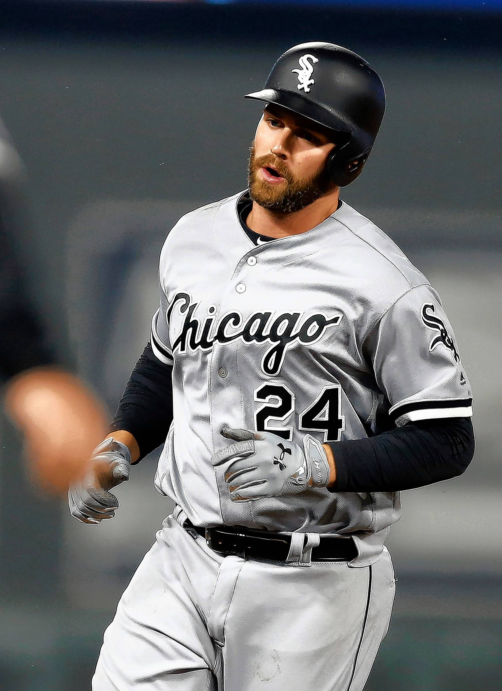 Chicago White Sox' Matt Davidson rounds third base on his solo home run off Minnesota Twins relief pitcher Ryan Pressly during the seventh inning of a baseball game Friday, April 14, 2017, in Minneapolis. (AP Photo/Jim Mone)