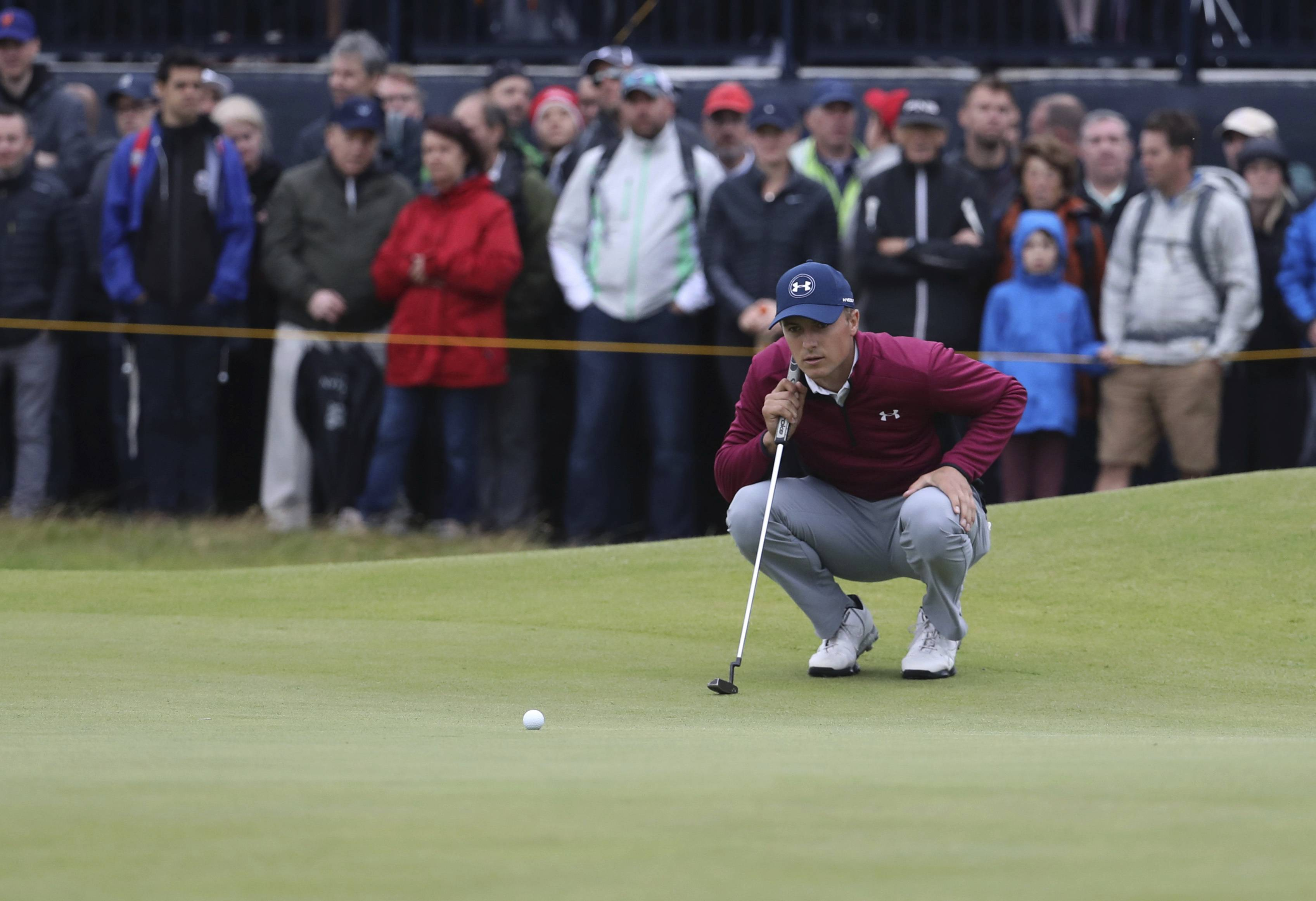 With a short game as sharp as it has been all year, and a 3-wood that turned out a lot better than it looked and led to an eagle, Jordan Spieth seized control with a 1-under 69 that gave him a two-shot lead over Matt Kuchar going into the weekend.