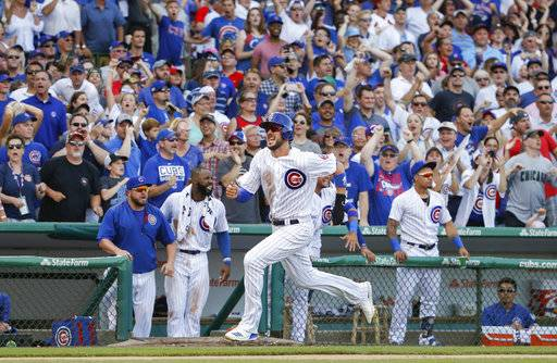 Bryant gallops home, Cubs rally in 8th, edge Cardinals 3-2