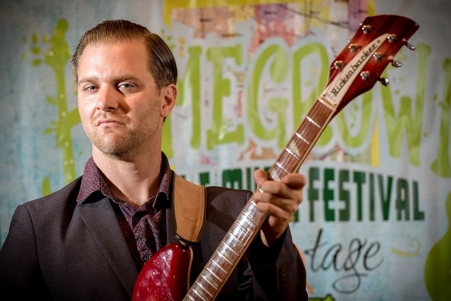 Aaron Williams, the founder and organizer of the Homegrown Arts & Music Festival in Lisle, is also one of the performers.