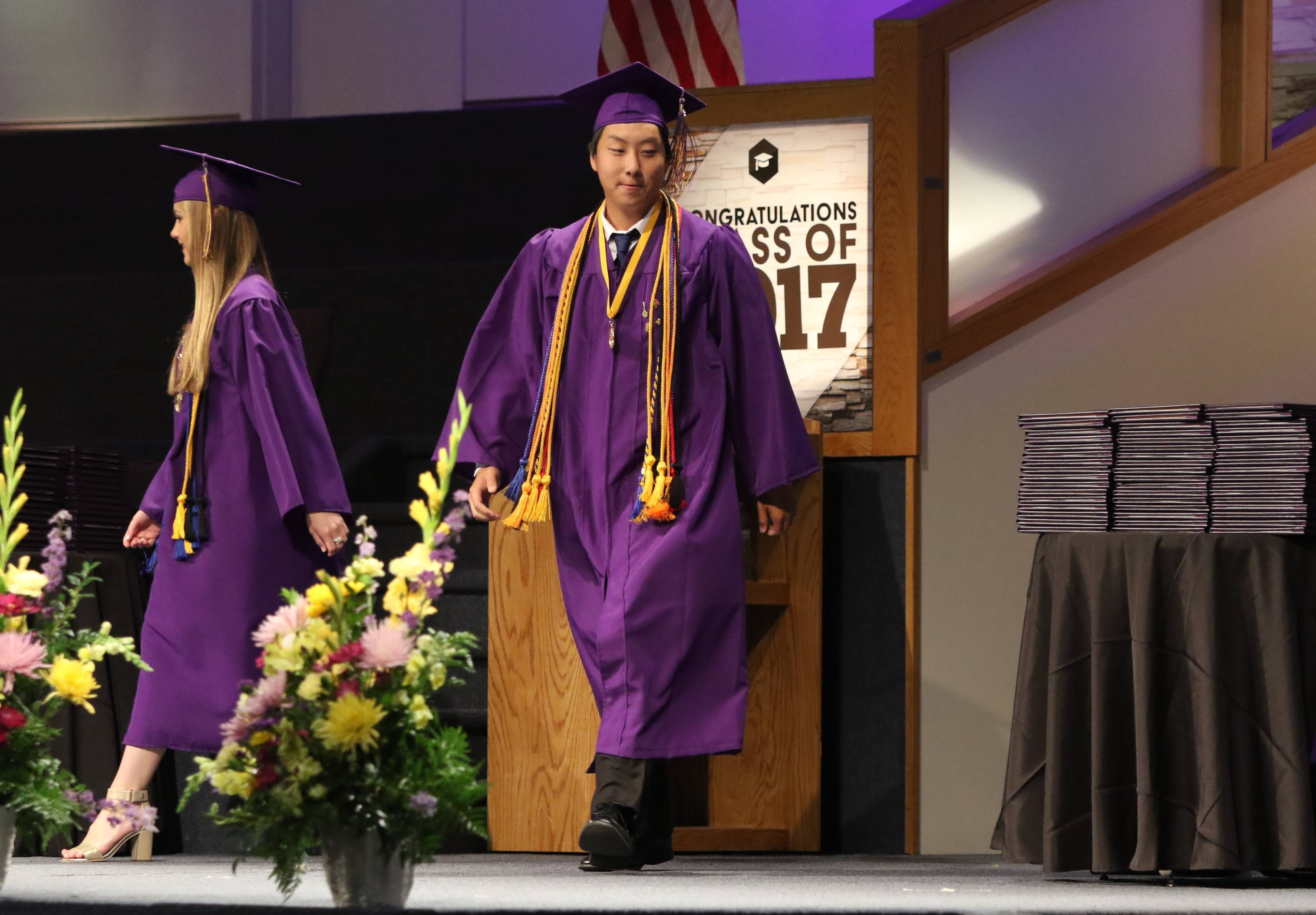 Wauconda High School's graduation ceremony was held at the Quentin Road Bible Baptist Church in Lake Zurich, the cheapest suburban venue at $3,500.
