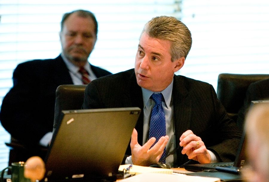 James Sweeney was not reappointed to the Illinois Tollway Board.
