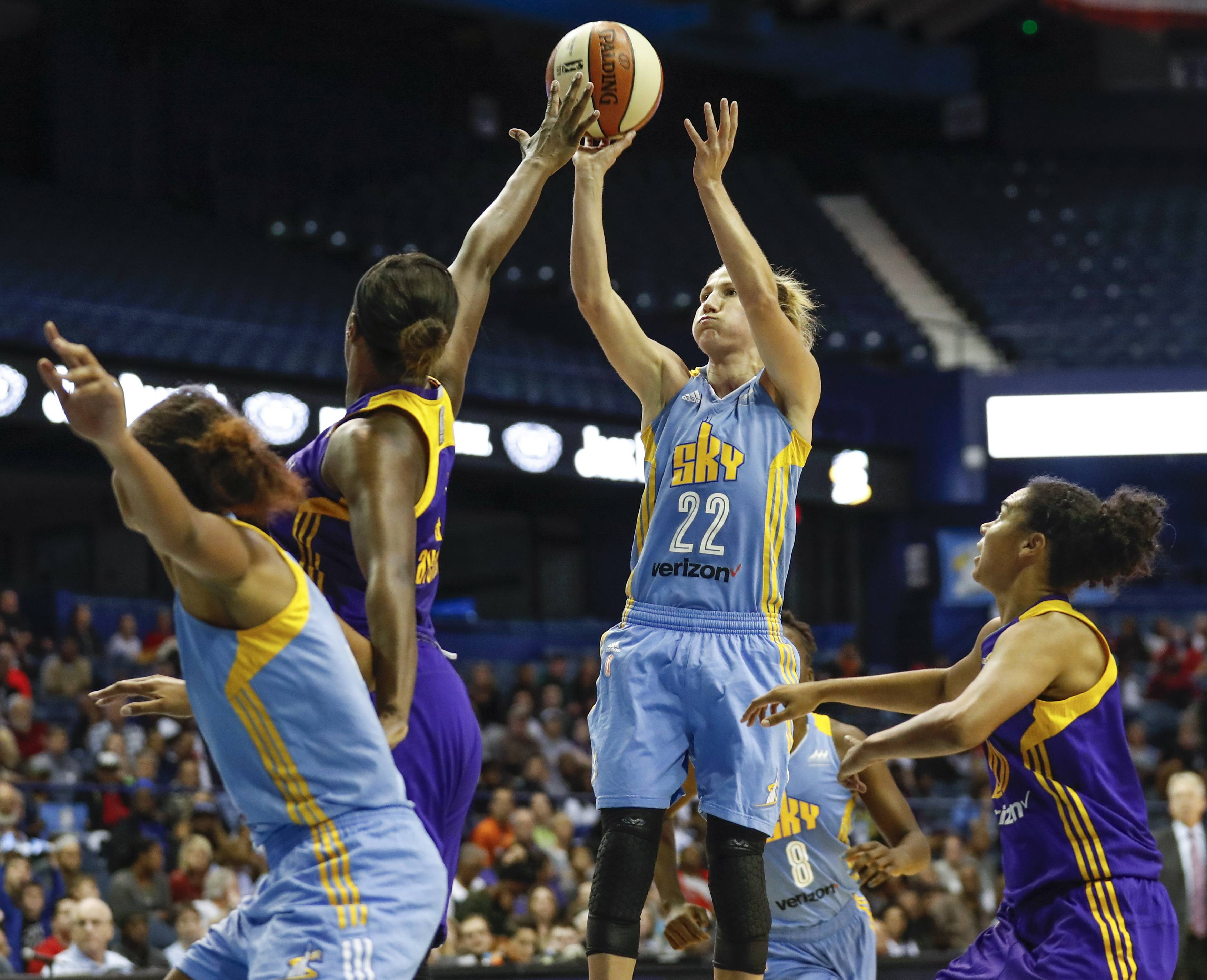 The Chicago Sky has played at Allstate Arena in Rosemont since 2010, but after this season, the team will play in the new Wintrust Arena on the near South Side of Chicago.