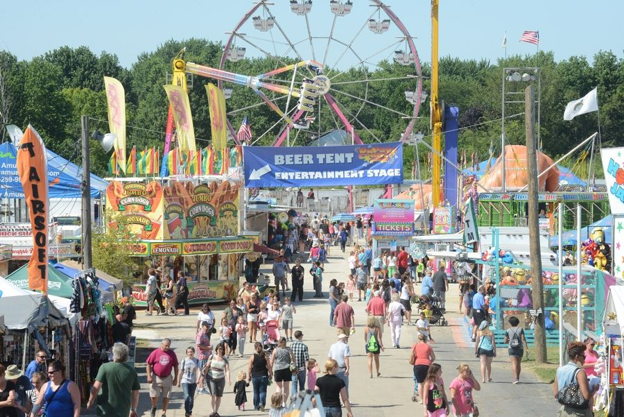 The DuPage County Fair typically draws about 100,000 people over its five-day run.