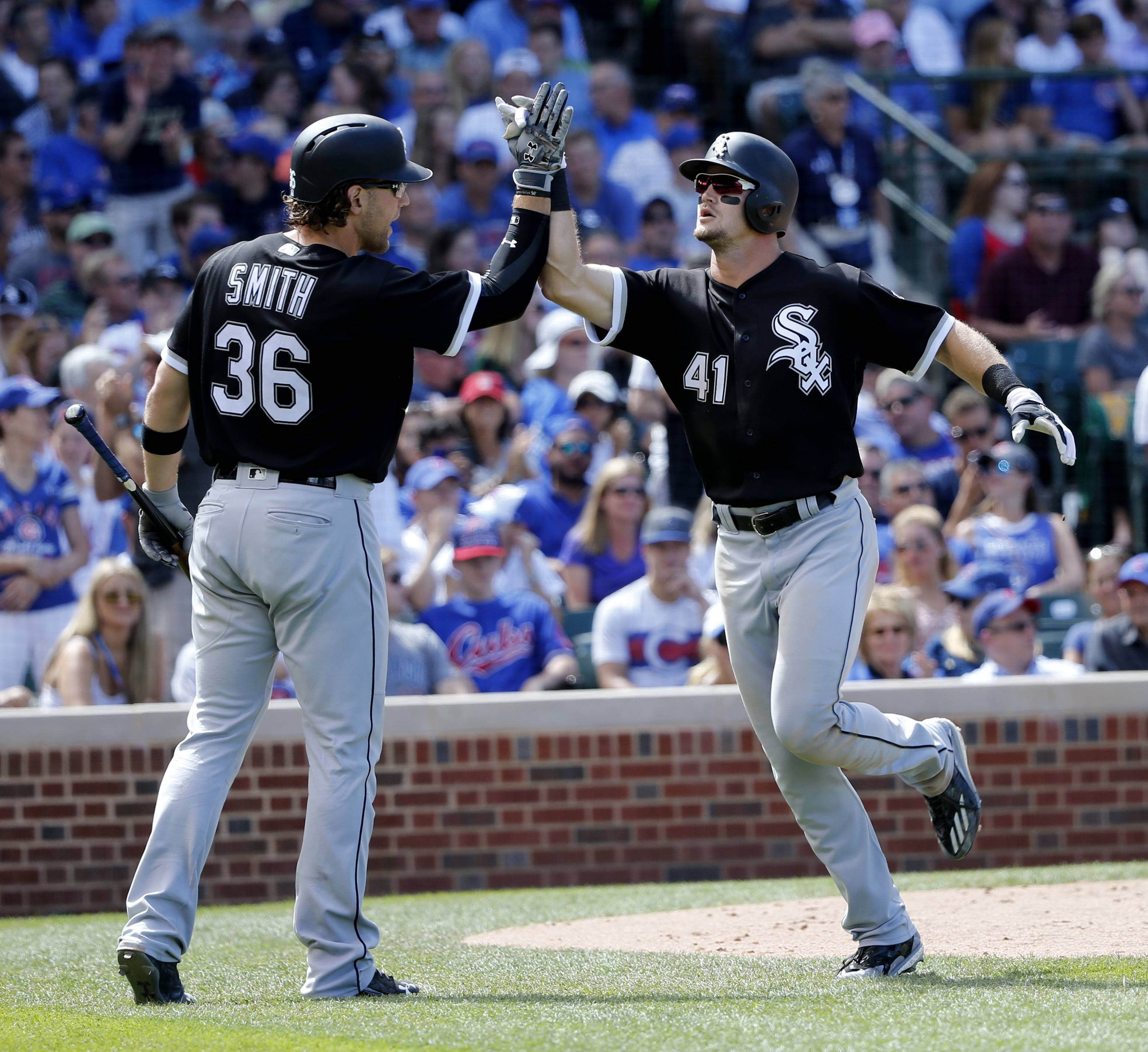 Adam Engel (41) had a pair of hits, including a solo home run, in Monday's White Sox victory over the Chicago Cubs. He'll bat eighth in today's Crosstown Cup game at Wrigley Field.
