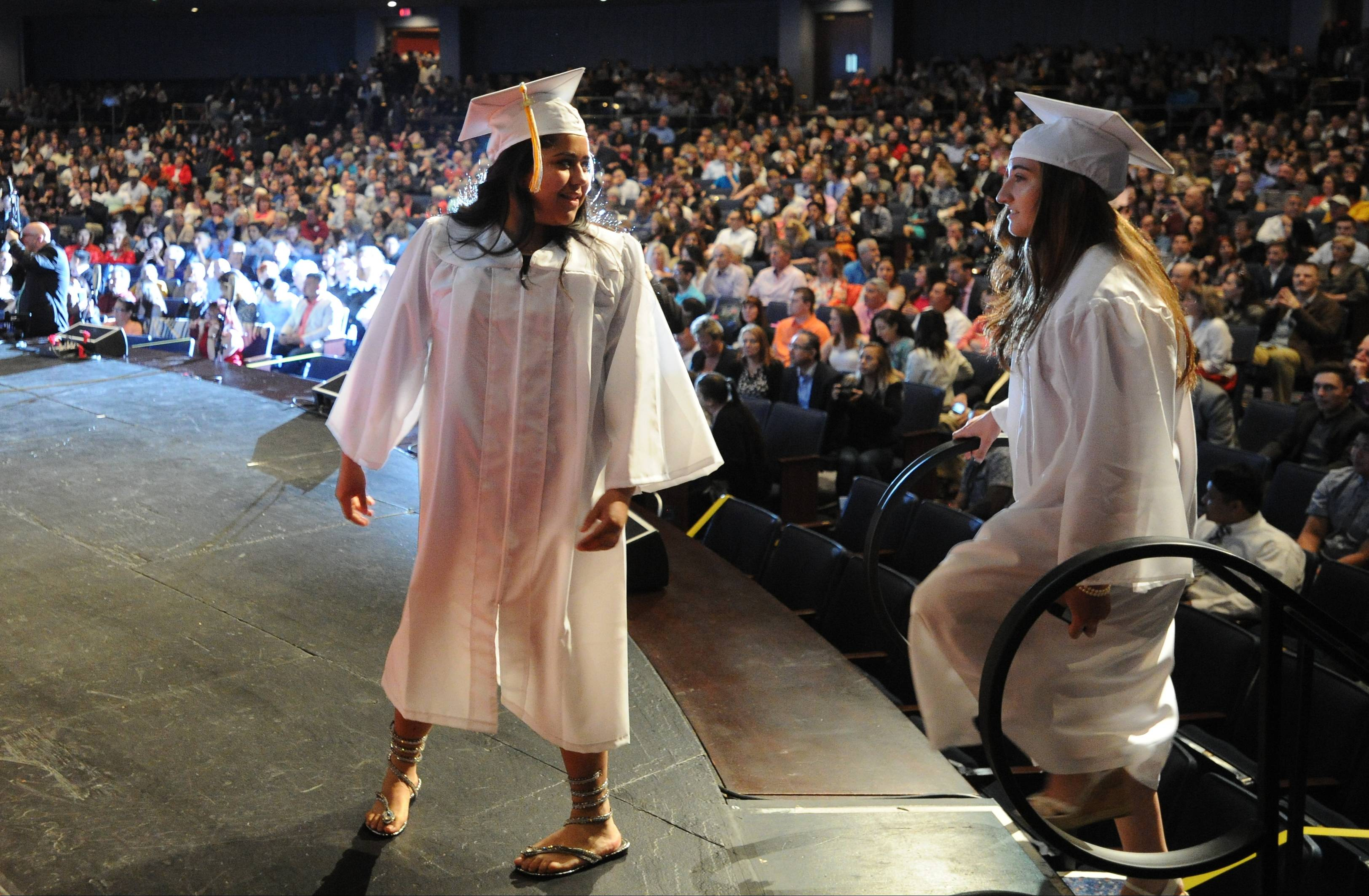 Maine West High School's graduation was held at the Rosemont Theatre, which costs between $20,000 and $75,000 to rent for ceremonies.