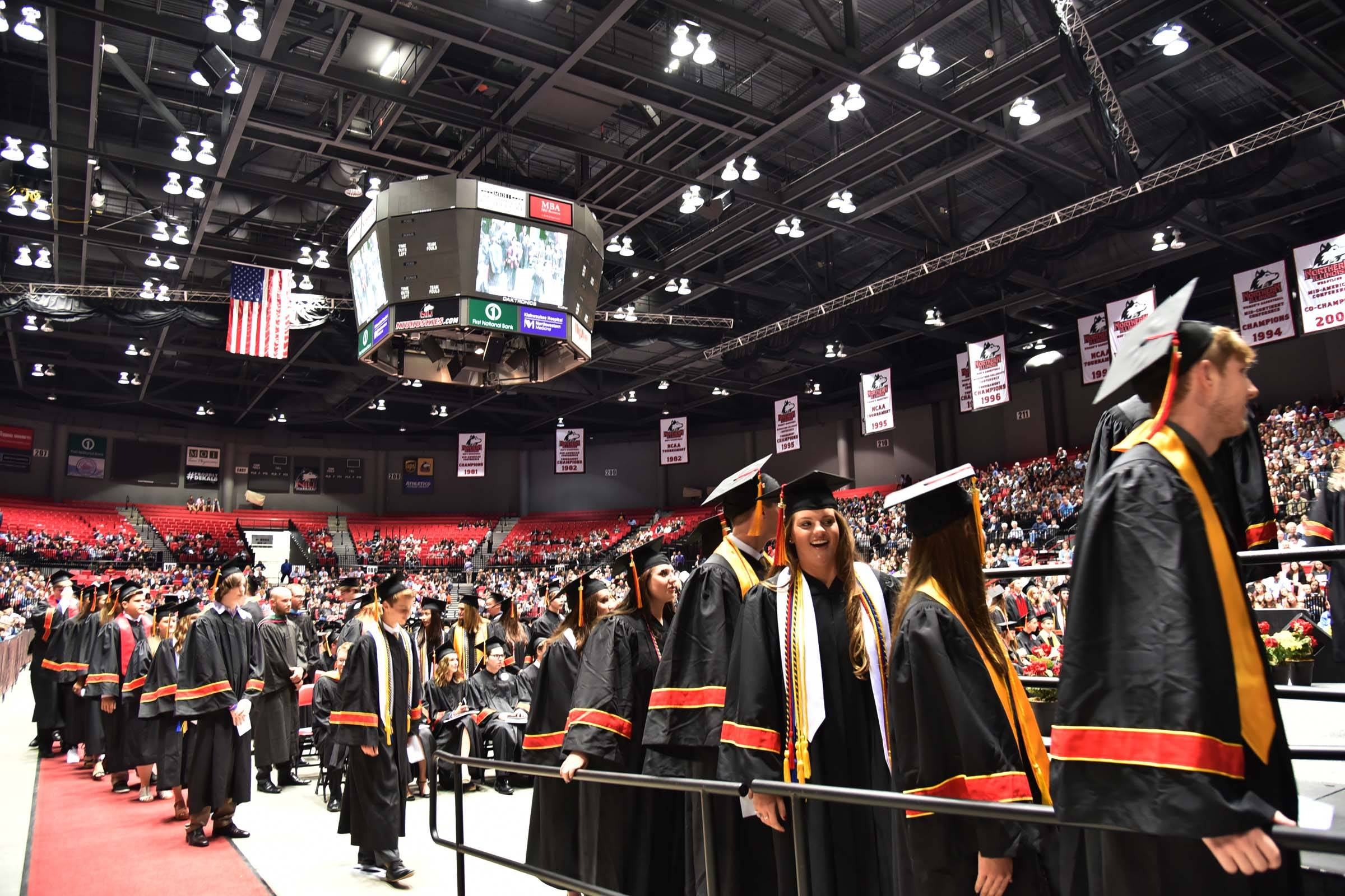 Batavia High School's graduation ceremony was held at the Northern Illinois University Convocation Center in DeKalb. It costs between $7,500 and $18,000 to host graduations there.