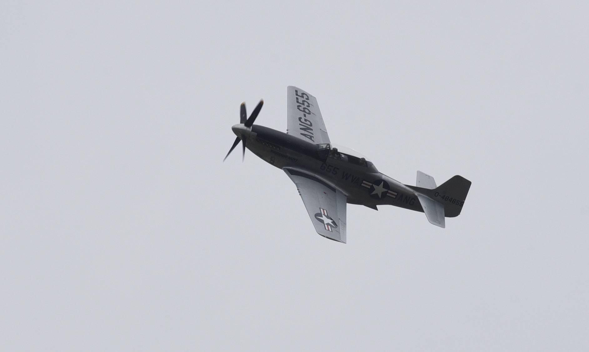 This P-51 Mustang fighter plane, part of the Wings of Freedom tour, arrives at Chicago Executive Airport in Wheeling Wednesday. Training flights on the plane are available.
