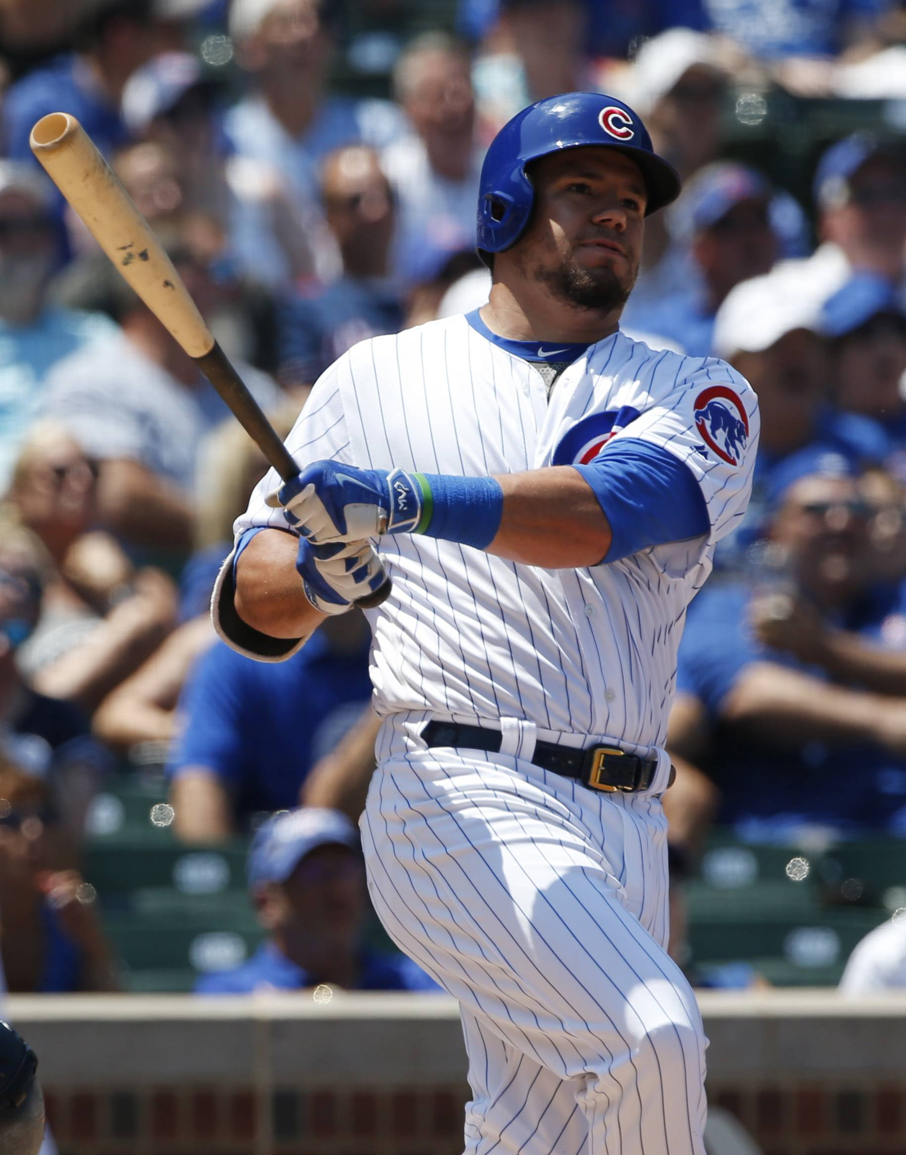 Kyle Schwarber will be the Cubs designated hitter against the White Sox for Wednesday night's game at Guaranteed Rate Field. John Jay replaces Schwarber in left field.
