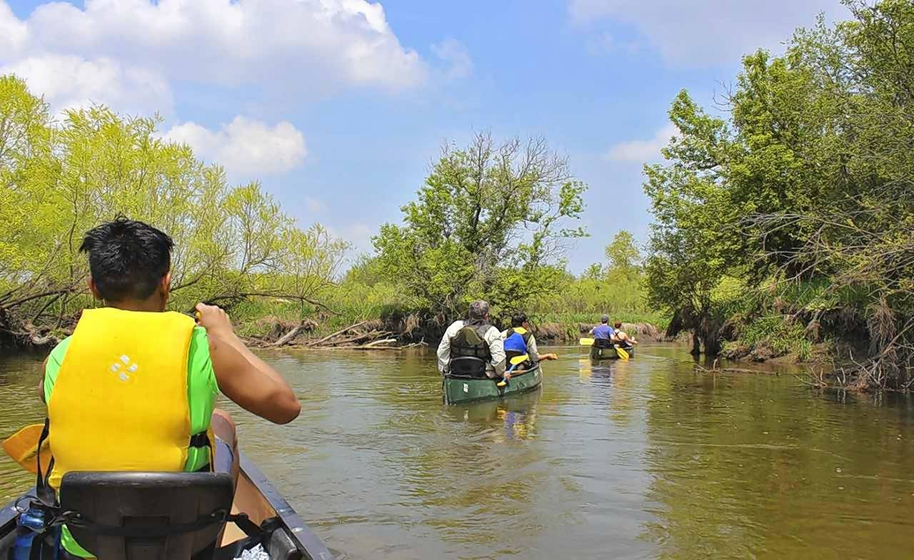 Paddlers make their way down the Nippersink Water Trail in McHenry County. Openlands, one of the oldest metropolitan conservation organizations in the United States, offers a free guide to the Water Trails of Northeastern Illinois.