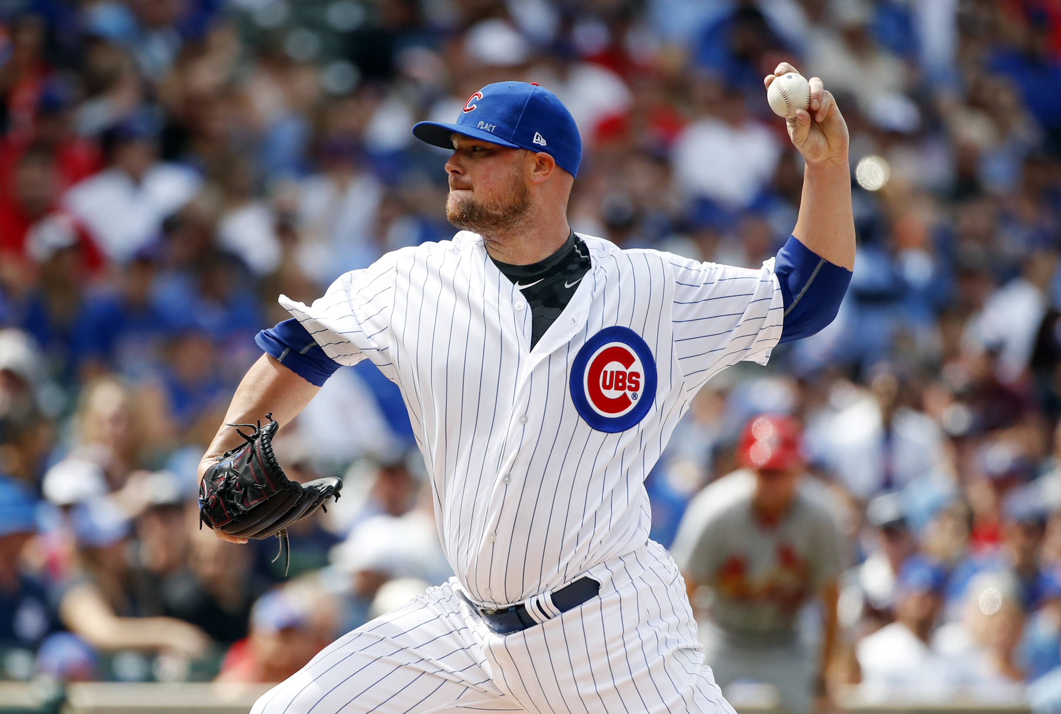 The Chicago Cubs will try to take three of four from the Chicago White Sox Thursday night as they send lefty Jon Lester to the mound.