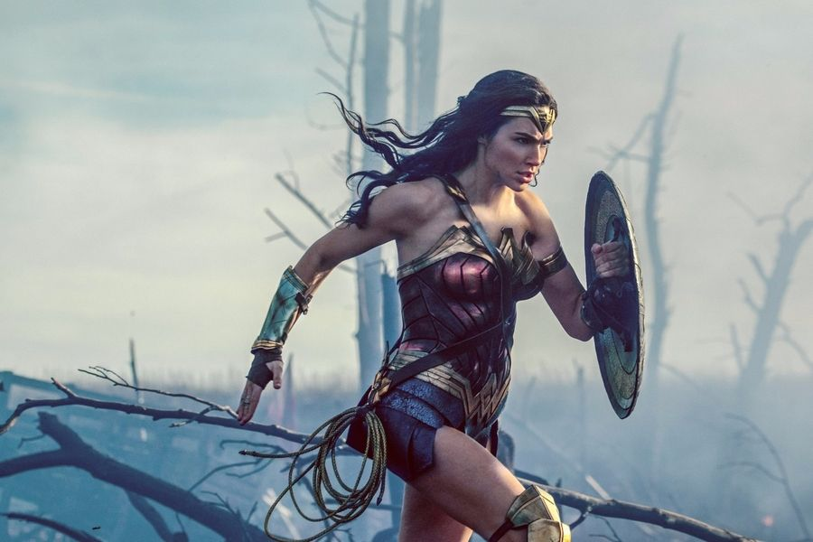 """Wonder Woman"" falls back on cliched slow motion shots, Dann Gire says."