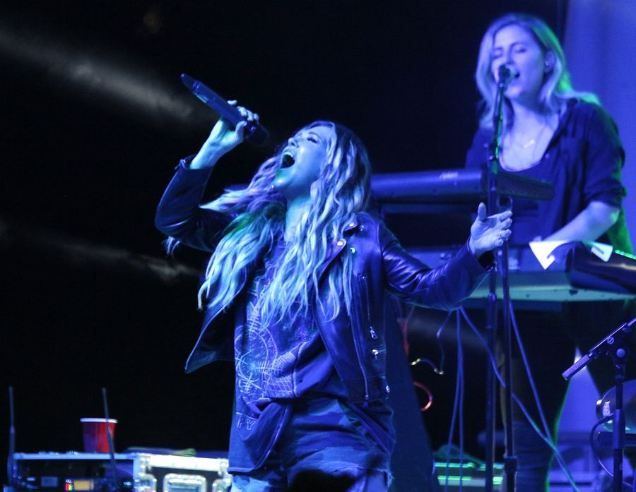 "Rachel Platten, whose hit ""Fight Song"" has become a rallying cry for a number of causes, entertains a Friday night concert crowd at the DuPage County Fair."