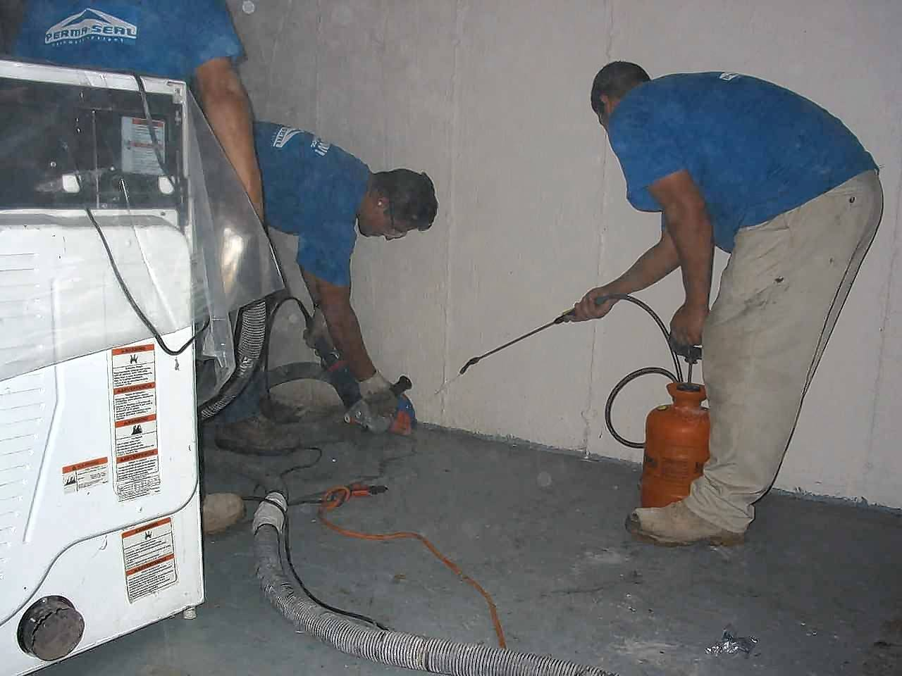 Filling cracks in the foundation can be a permanent solution to your flooding woes.