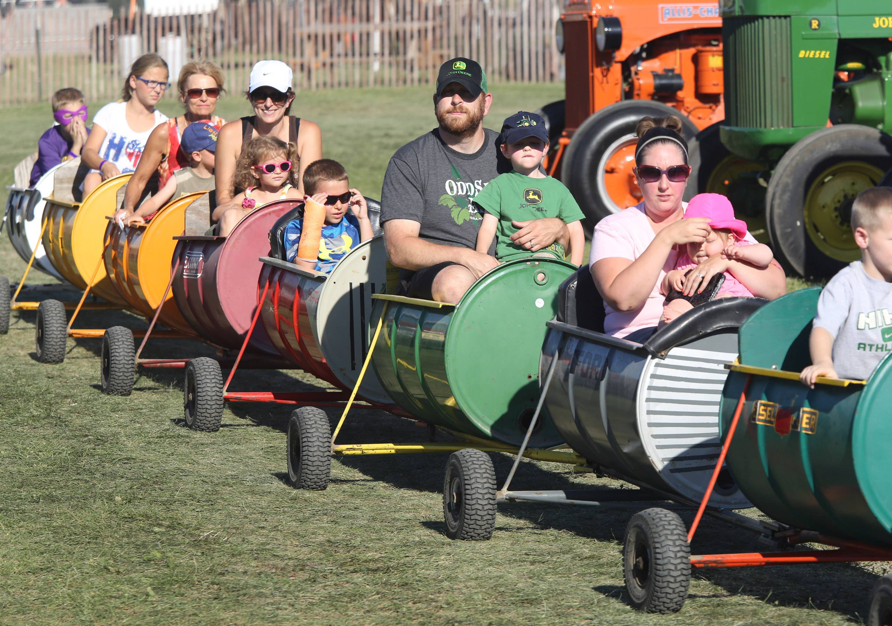 A barrel train at a previous Lake County Fair in Grayslake.