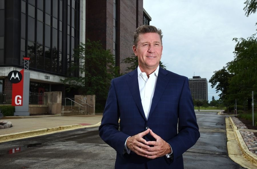 Bob Burk, managing partner of UrbanStreet Group LLC, is the main redeveloper of the former Motorola Solutions campus.