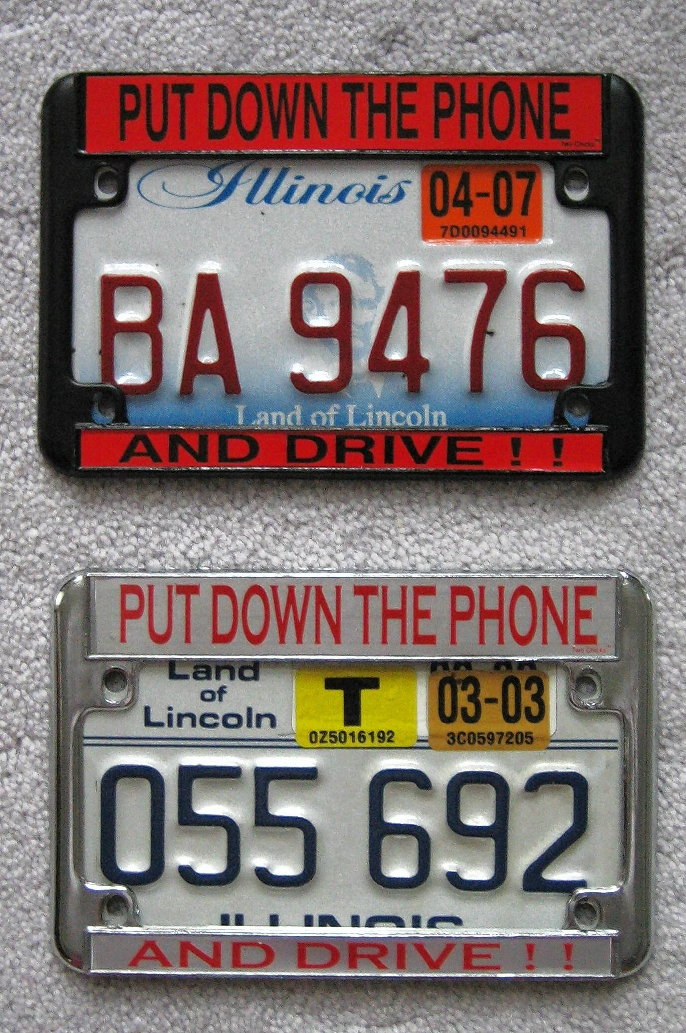 "Years ago, Ken ""Hawkeye"" Glassman had special license plate holders made up for his motorcycles."