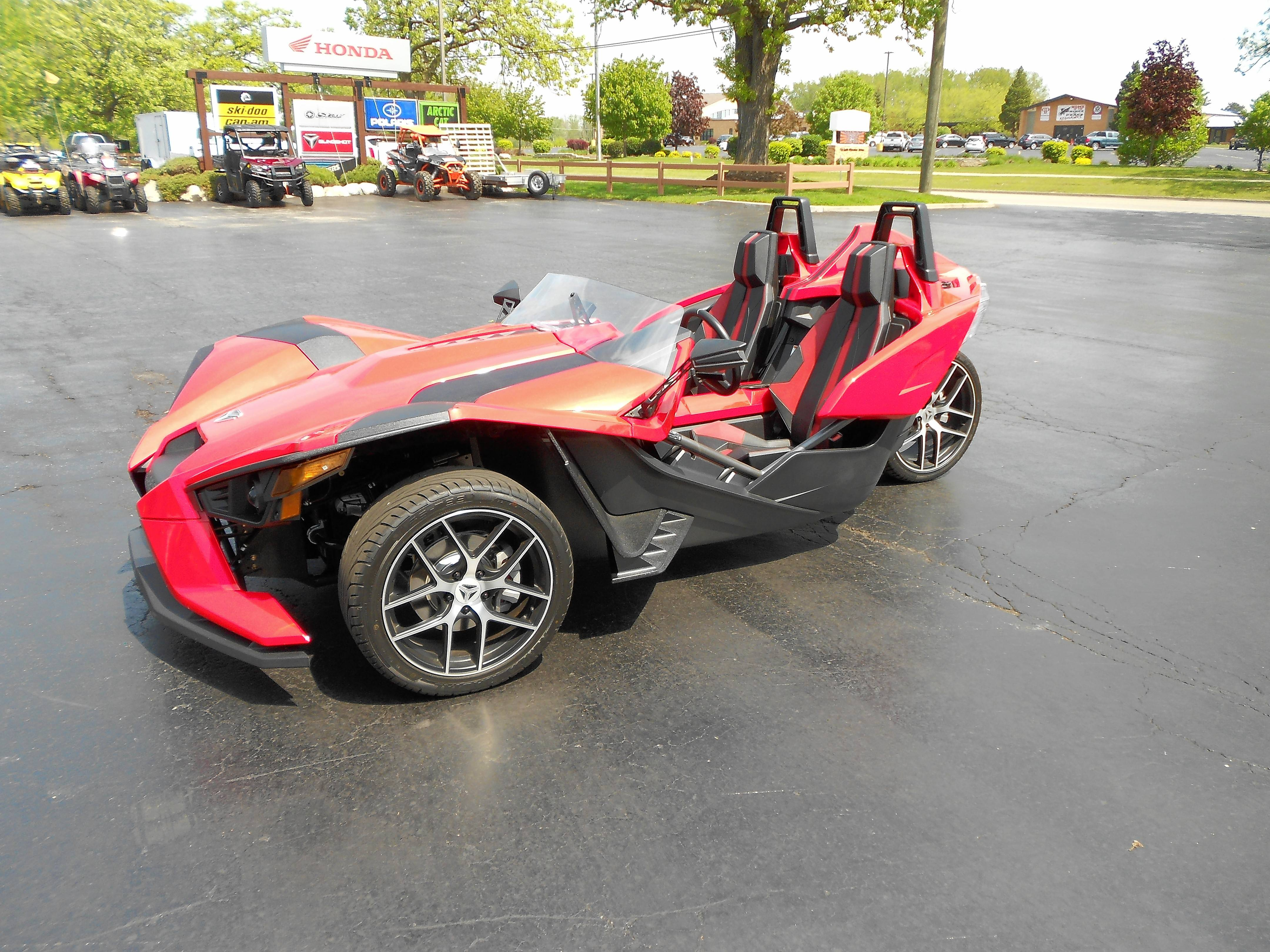 The Slingshot generates more horsepower than a Mazda Miata sports car.