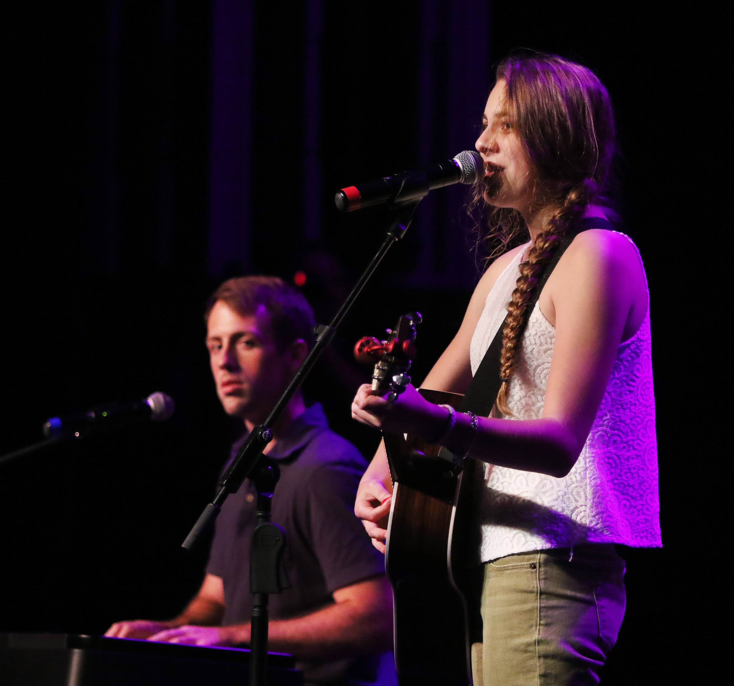 Tom and Olivia of Aurora perform during the Suburban Chicago's Got Talent competition Sunday at Prairie Center for the Arts in Schaumburg. The winners will be announced at the Taste of Arlington Heights on Saturday, Aug. 5.