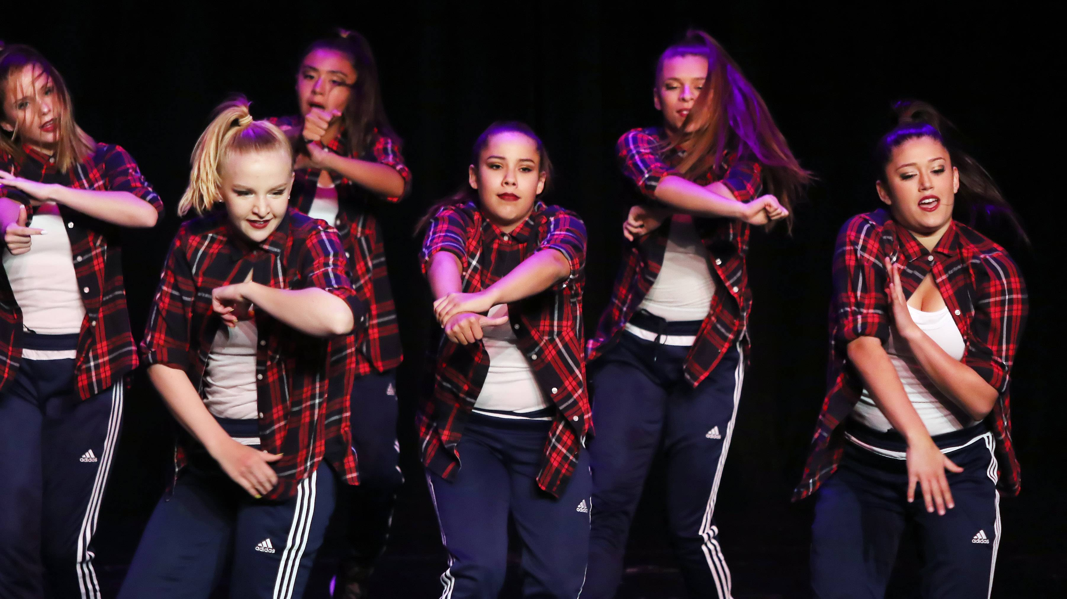 Gilbert R. Boucher II/gboucher@dailyherald.comThe Dynasty, a group from Naperville, dances during the Suburban Chicago's Got Talent competition Sunday at Prairie Center for the Arts in Schaumburg. The winners will be announced at the Taste of Arlington Heights on Saturday, Aug. 5.