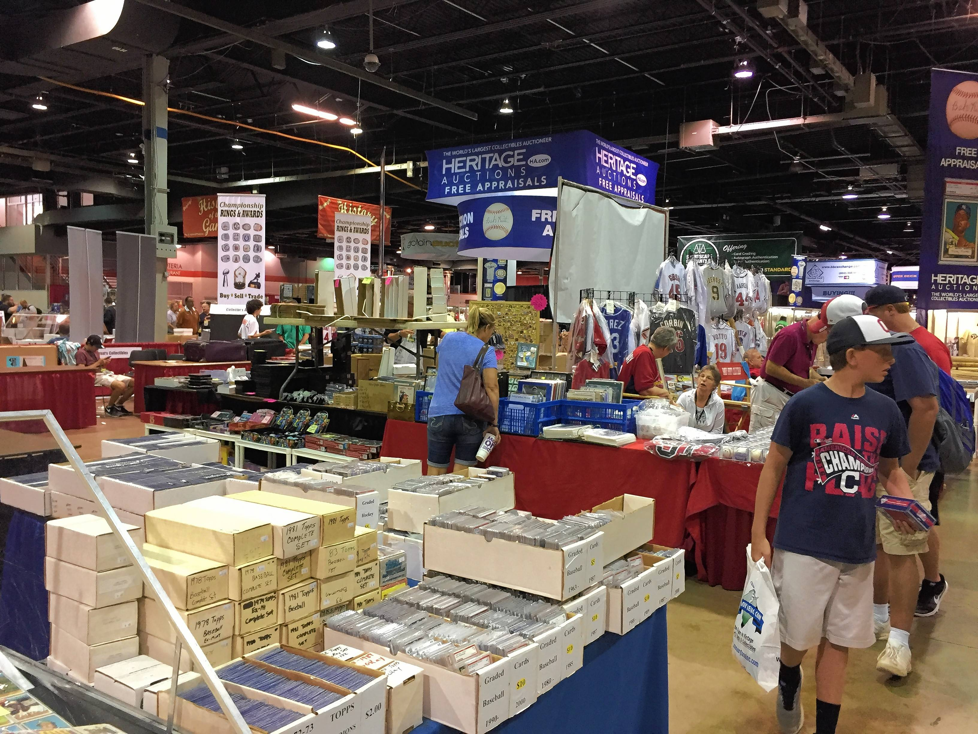 The National Sports Collectors Convention in Rosemont included a variety of collectible cards, memorabilia and autographs.