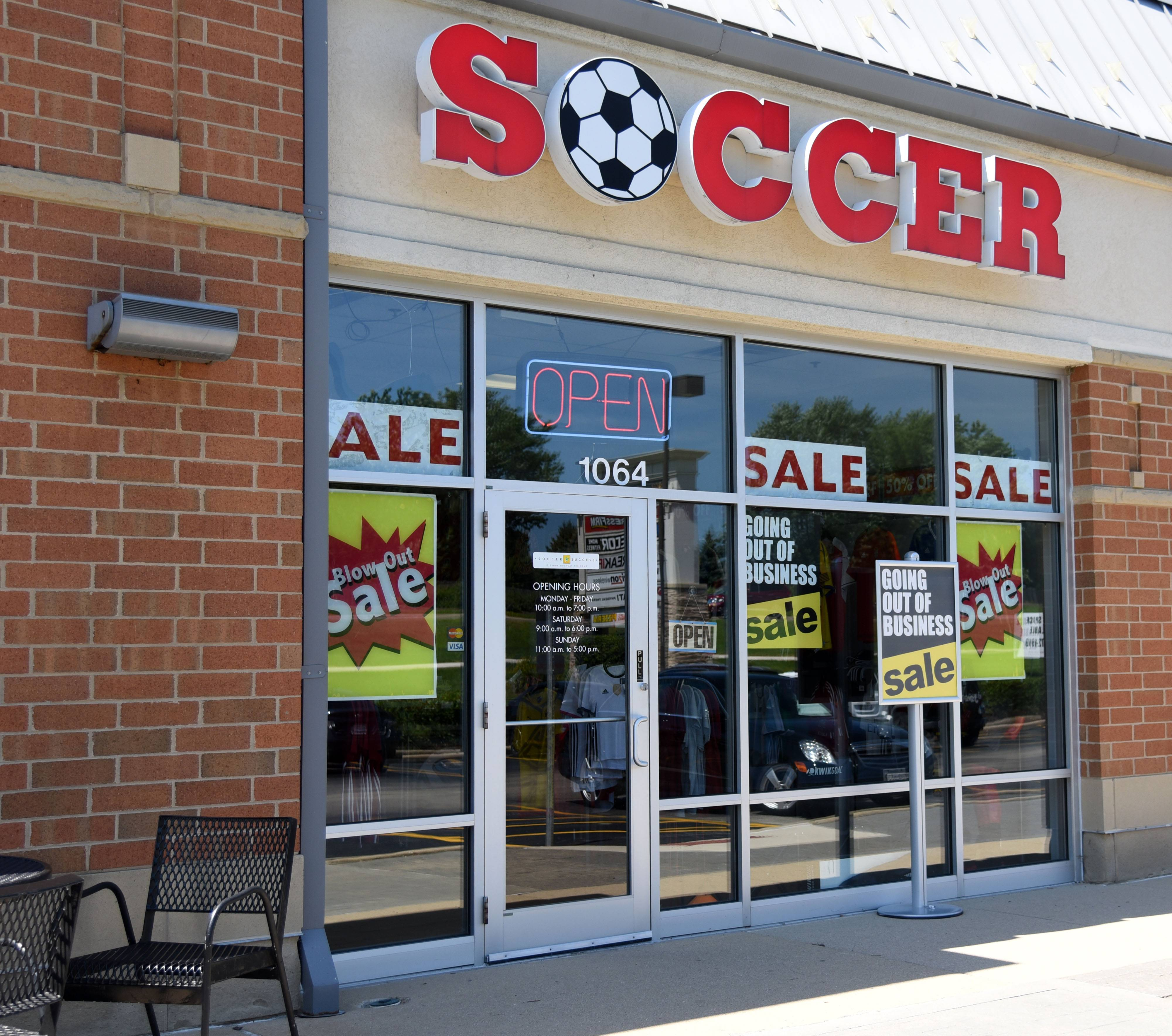 Soccer Success in Geneva Commons is closing at the end of August.