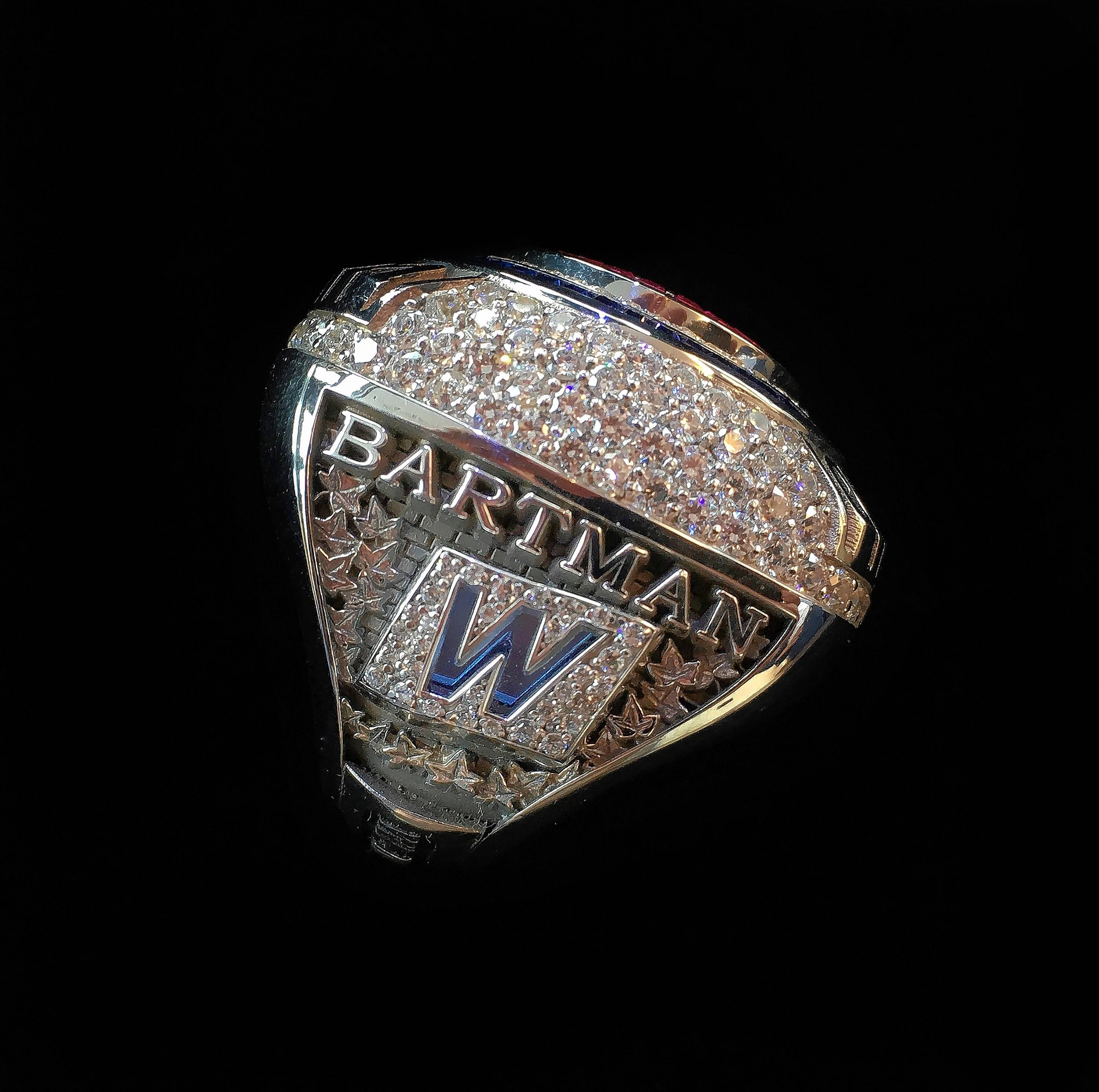 This 2016 World Series ring was presented to Cubs fan Steve Bartman.